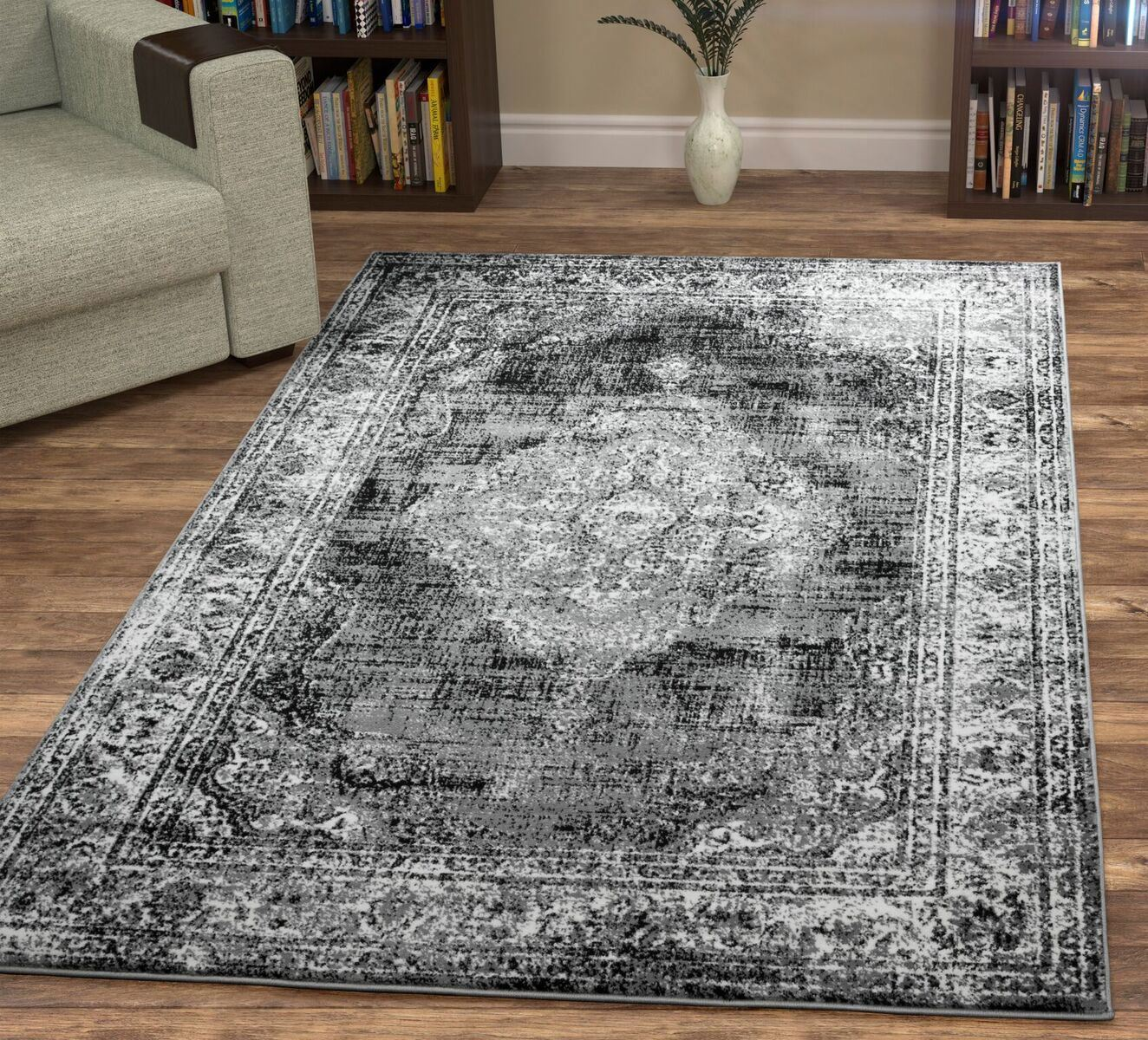 Large Luxury Area Rugs Dark grau Geometric Persian Oriental Oriental Oriental Rugs Bedroom Carpets 1a7d14