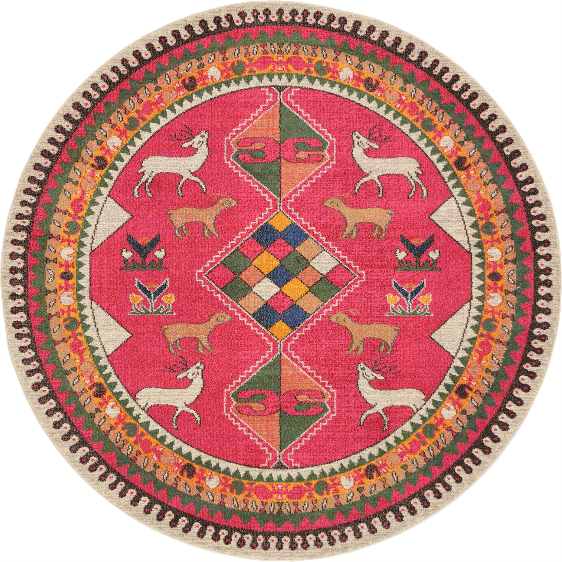 Oriental Rugs Out Of Style: Traditional Pink Persian Design Area Rug Tribal Oriental