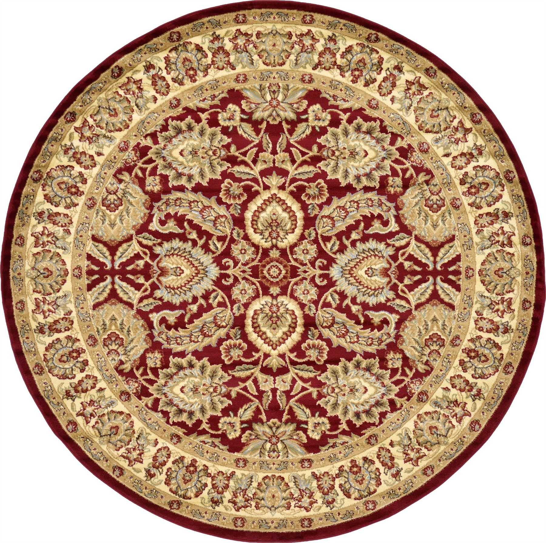 Traditional Area Rug Floral Persian Desigh Large Red Cream