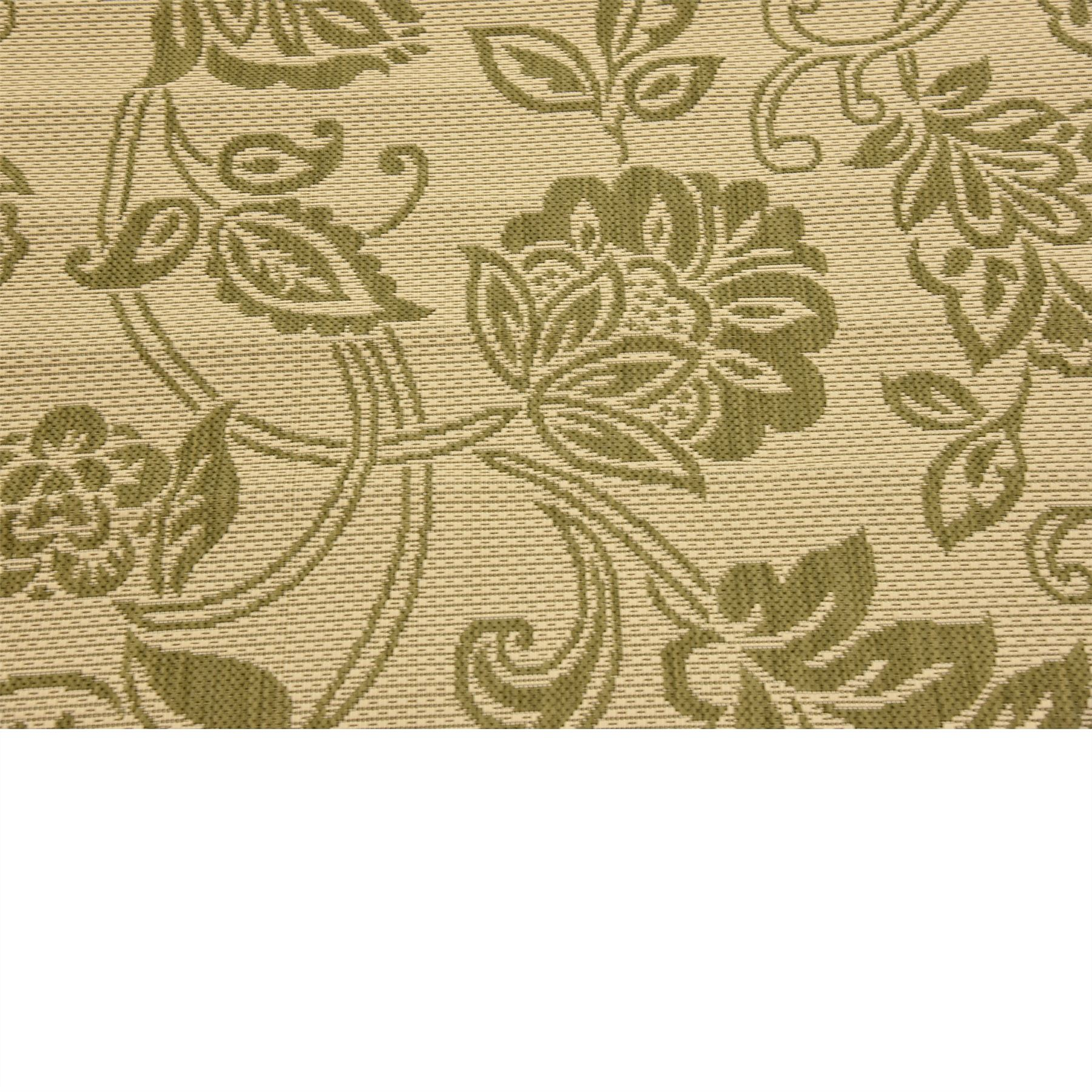 Contemporary Outdoor Area Rugs: Modern Floral Botanical Outdoor Area Rug Contemporary Thin