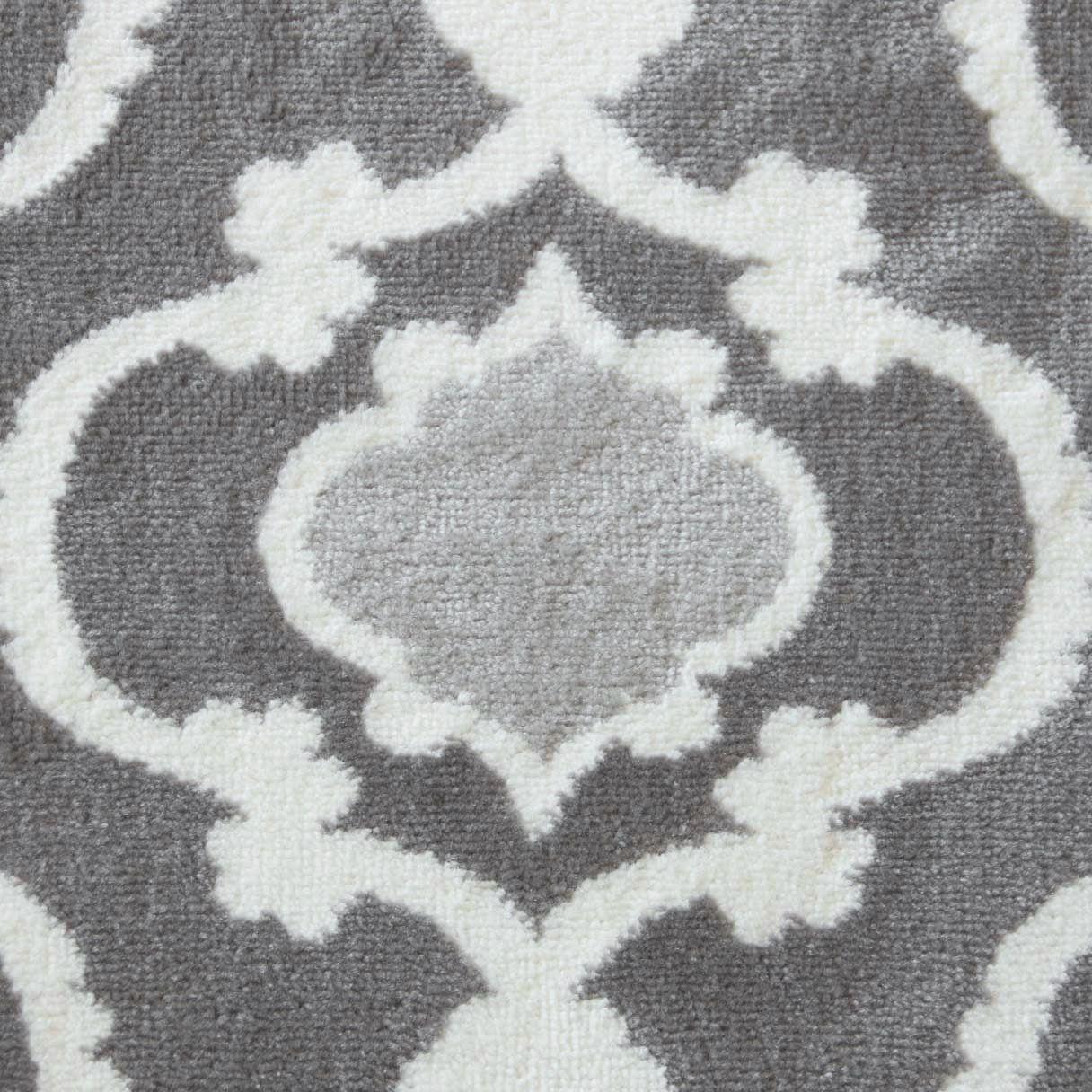 A2Z-grigio-grande-mix-di-moderni-tappeti-corridori-bianchi-a-contrasto-Traliccio-Design-Tappeti miniatura 3