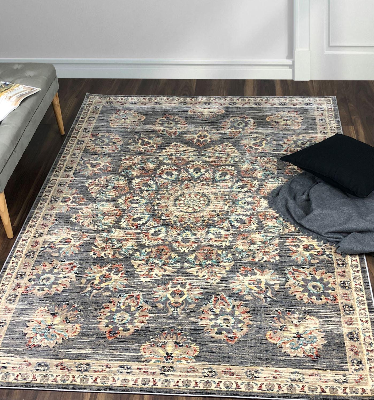 A2Z Small Medium Medium Medium grau Hallway Area Carpet Rugs Persian Floral Patio Runner Rugs 1e535d