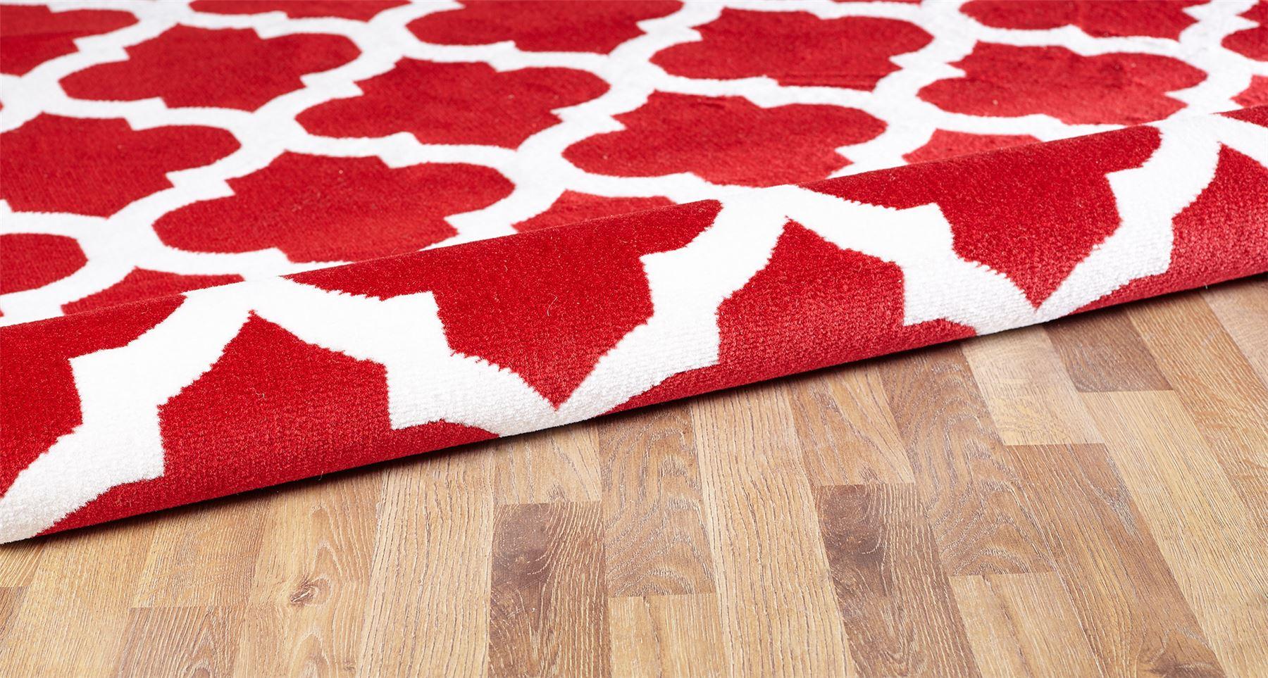Nero-Rosso-Argento-Bianco-Viola-Moderno-Area-Tappeto-Traliccio-DESIGN-CUCINA-outdoorrug miniatura 19