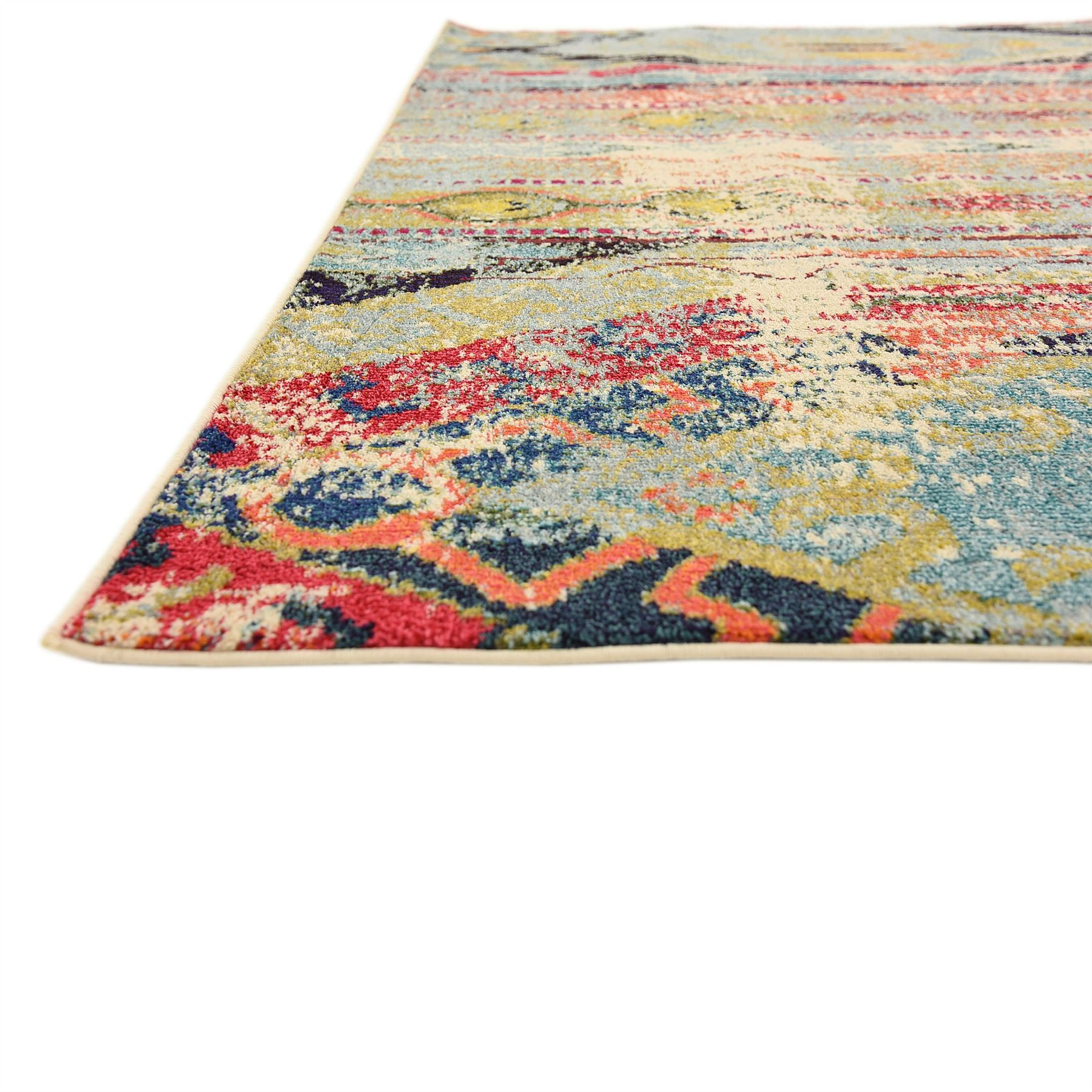 Tribal Design Vintage Style Area Rug Faded Contemporary