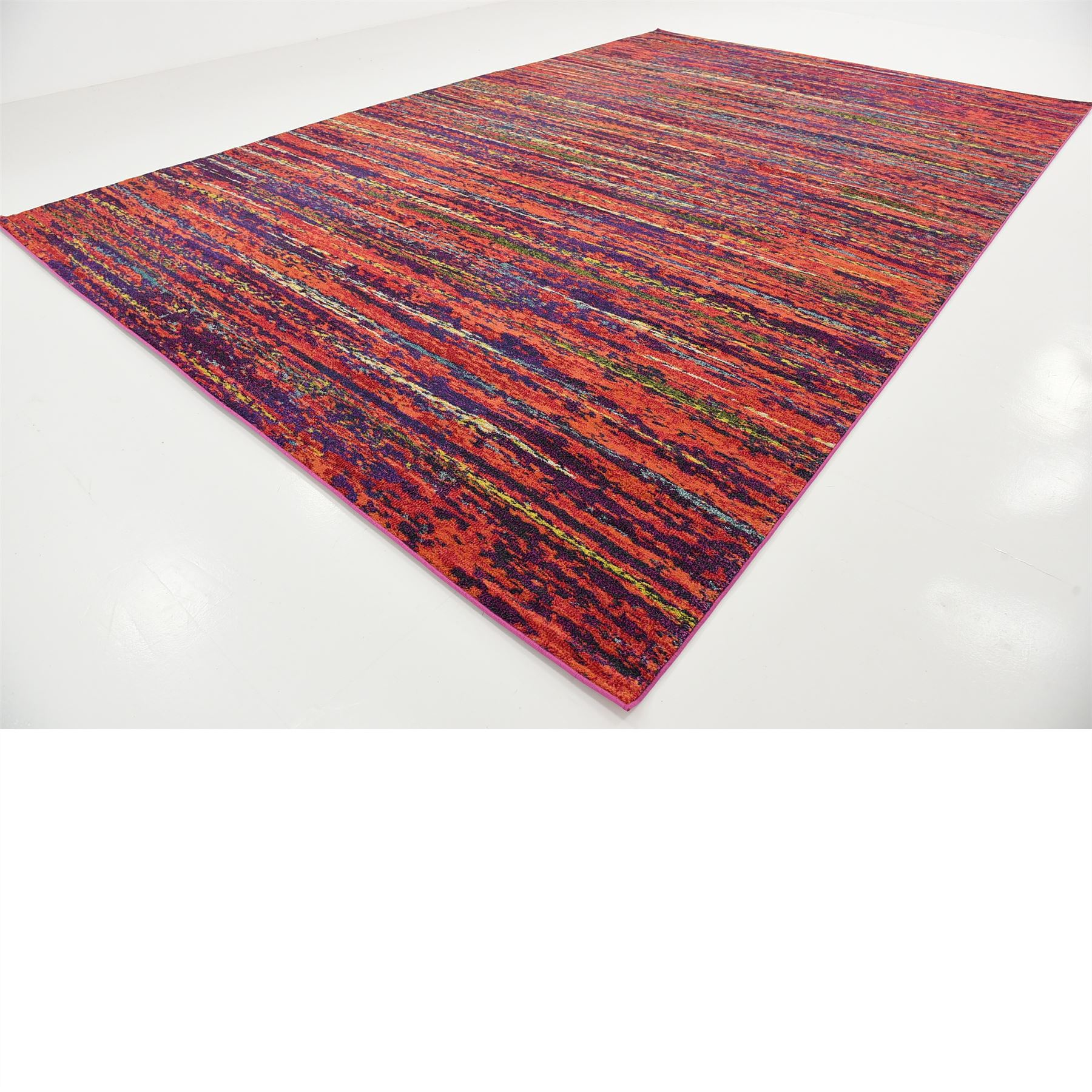 Modern Looking Rug: Modern Style Colorful Area Rug Contemporary Design Multi