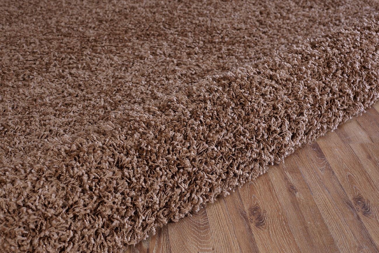 Dark-Beige-Shaggy-Rug-Warm-Soft-Fluffy-Carpet-