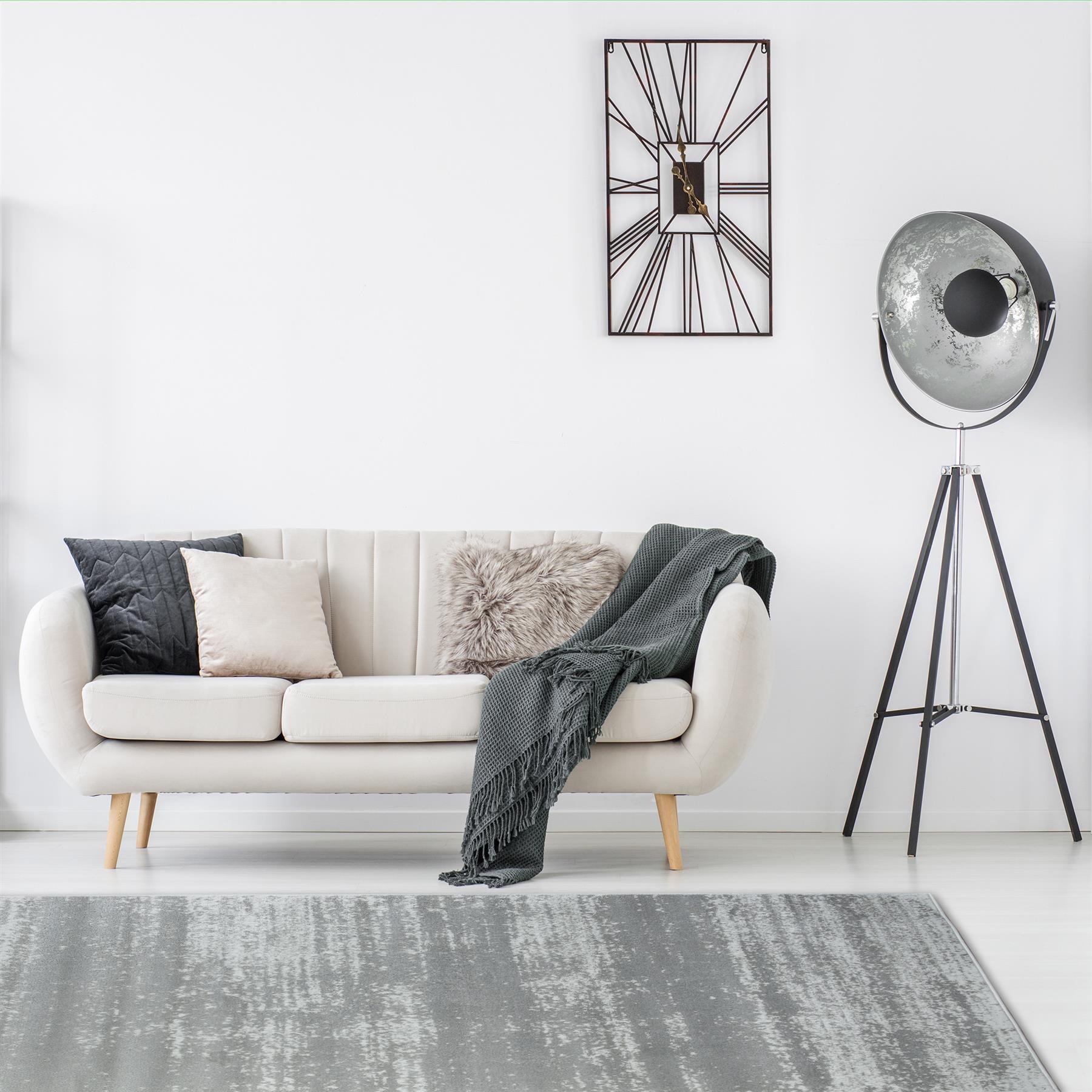 TAPPETI-Moderni-Grigio-Scuro-Grigio-Chiaro-Lounge-Tappeto-design-moderno-due-tonalita-TAPPETI miniatura 17