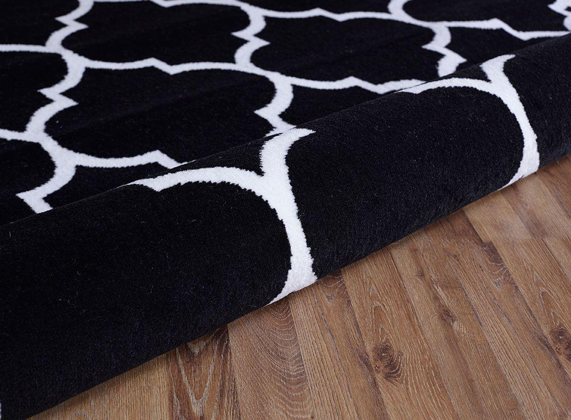 Modern-Geometric-Trellis-Moroccan-Grey-Carpet-Contemporary-Soft-Area-Rug-White