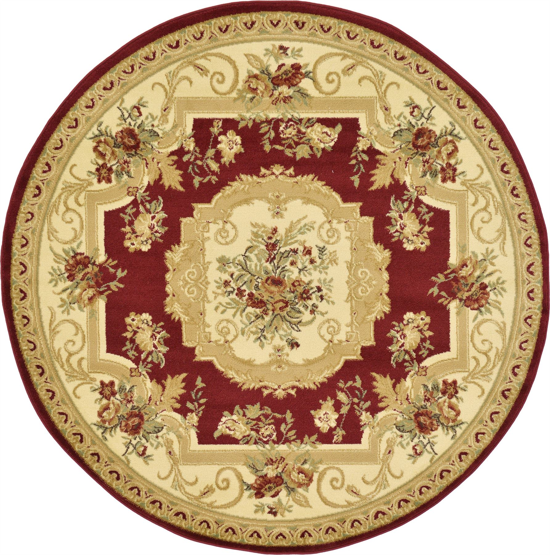 Oriental Large Area Rug Square Traditional Country Round