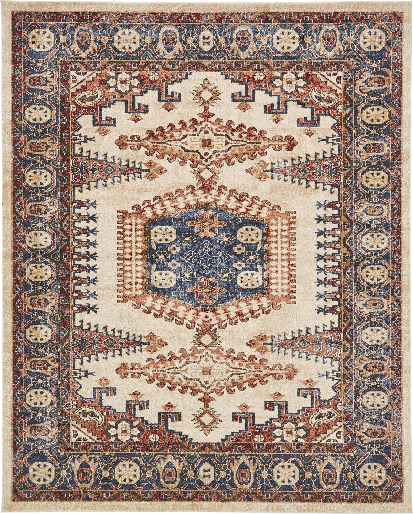 Traditional Large Faded Persian Design Area Rug Small