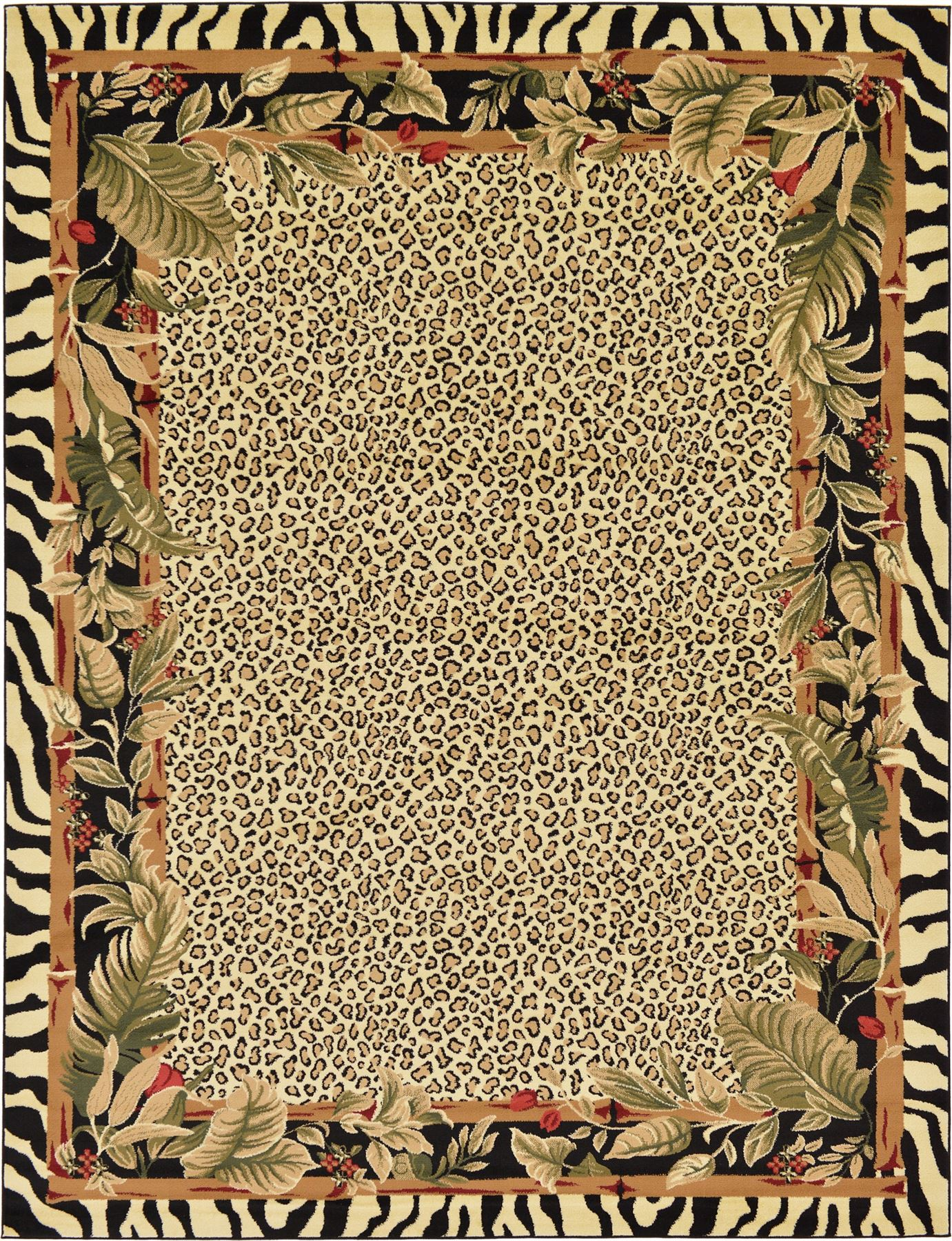 Zebra Design Safari Modern Area Rug Contemporary Leopard