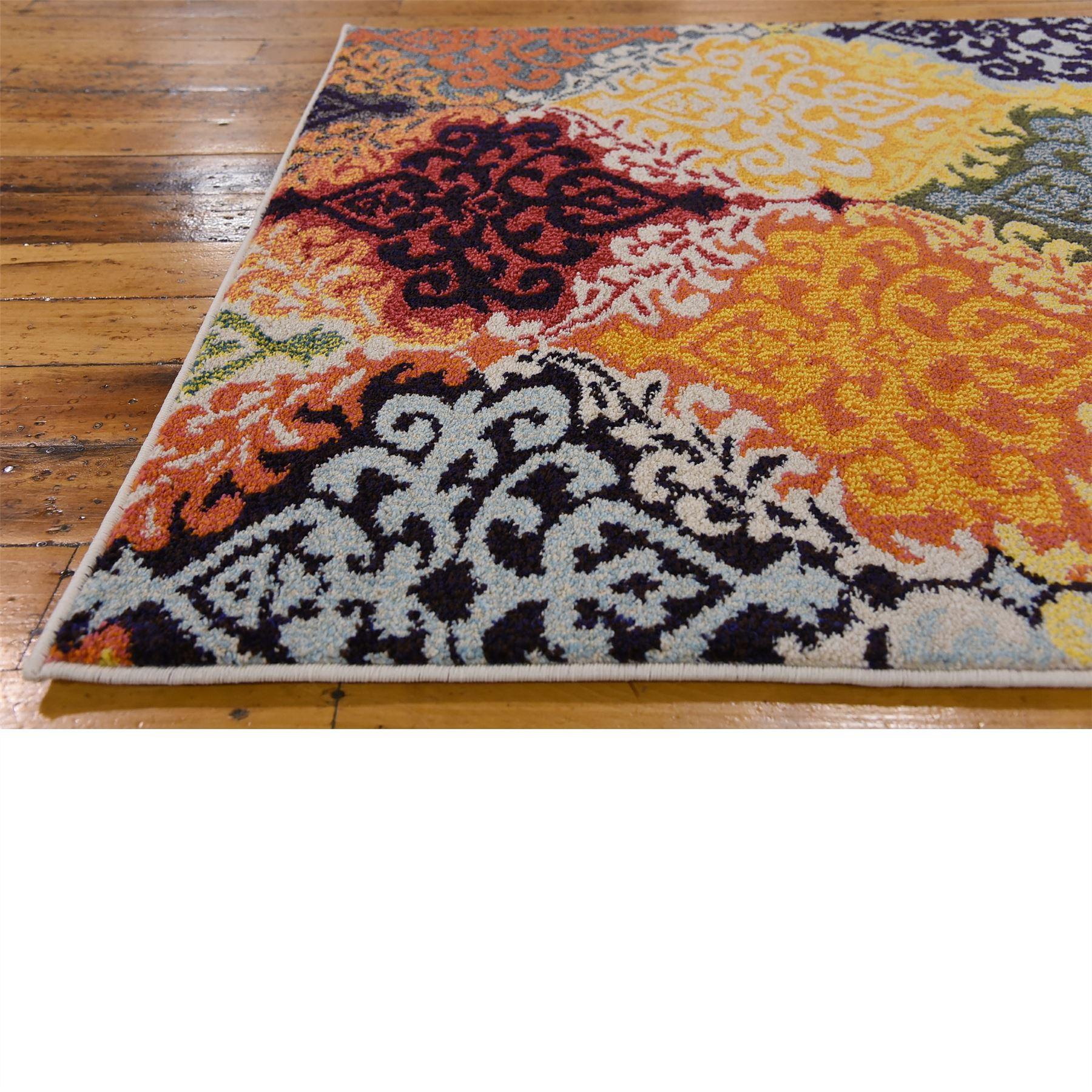 Modern Style Multi Color Area Rug Contemporary Design