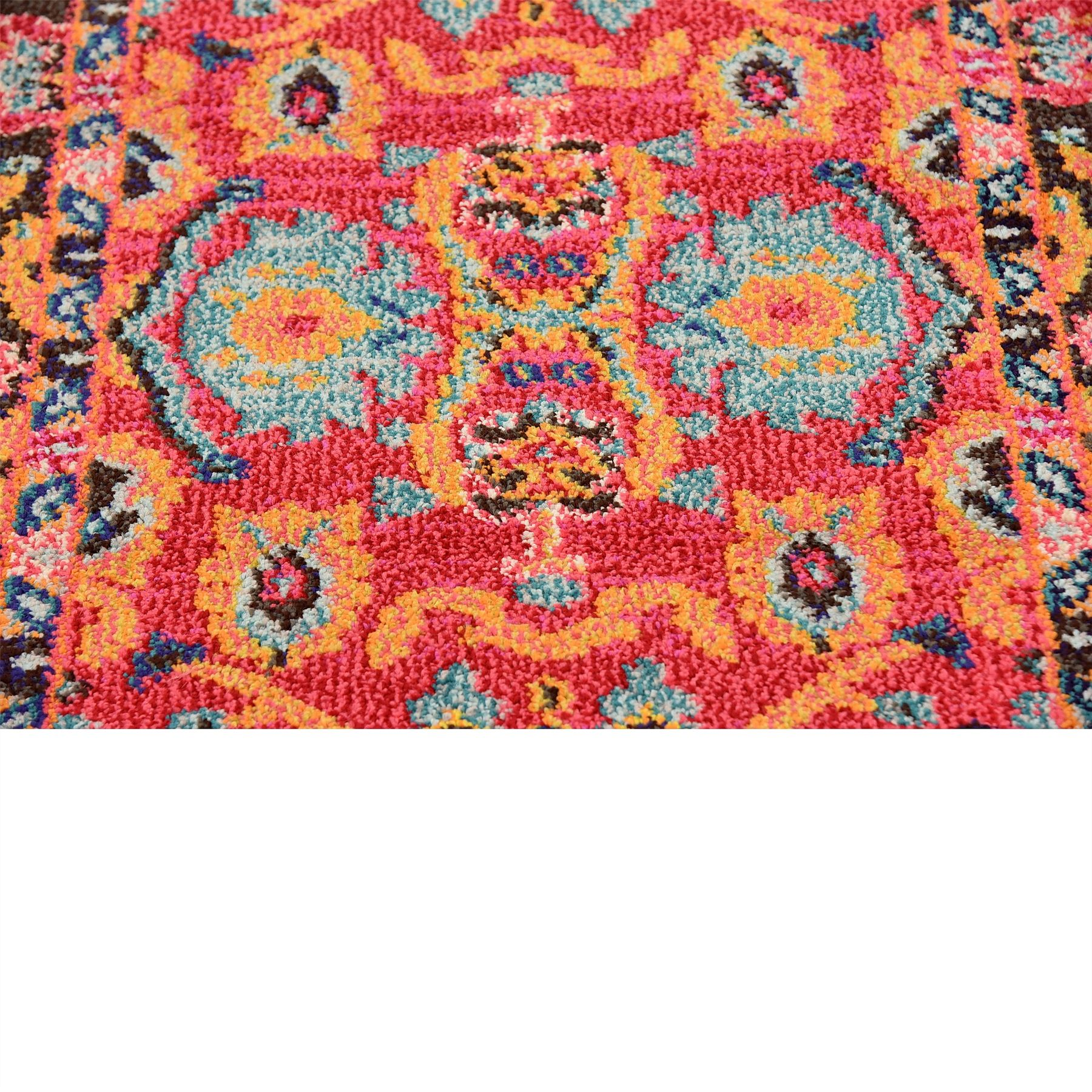 Traditional Botenical Floral Design Carpet Contemporary