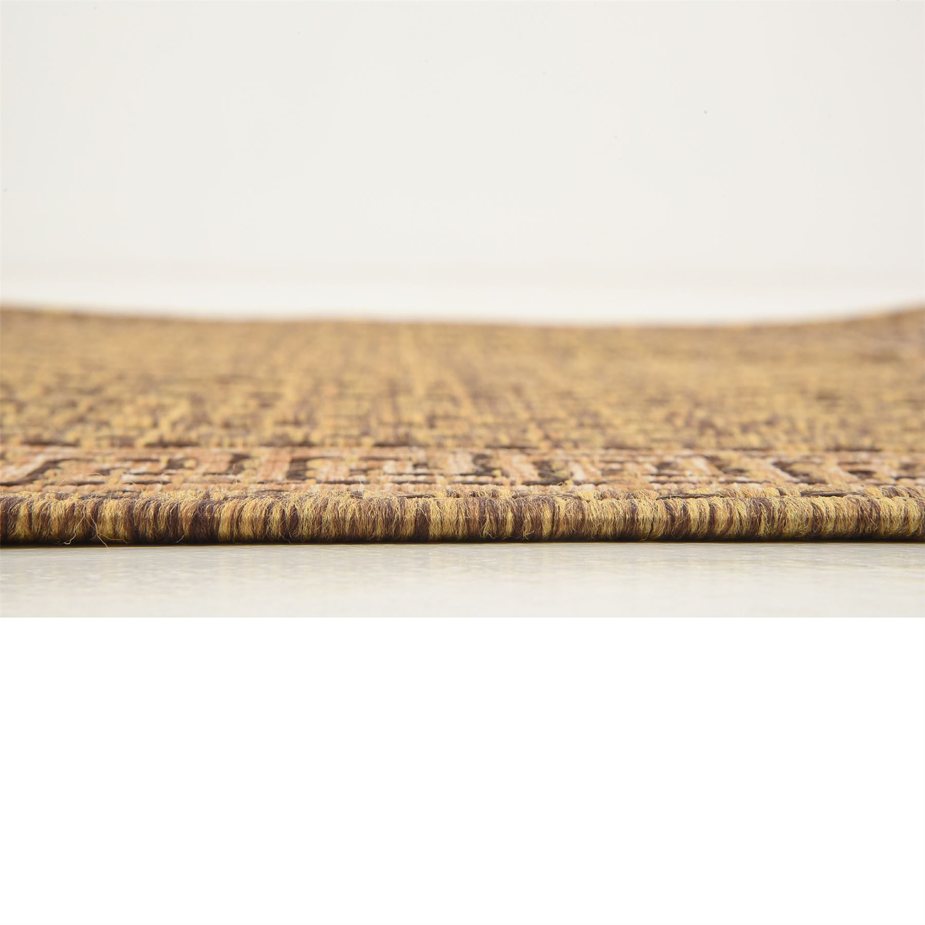 Modern-Outdoor-Thin-Area-Rug-Contemporary-Plain-Large-Small-Carpet-Gray-Brown thumbnail 9