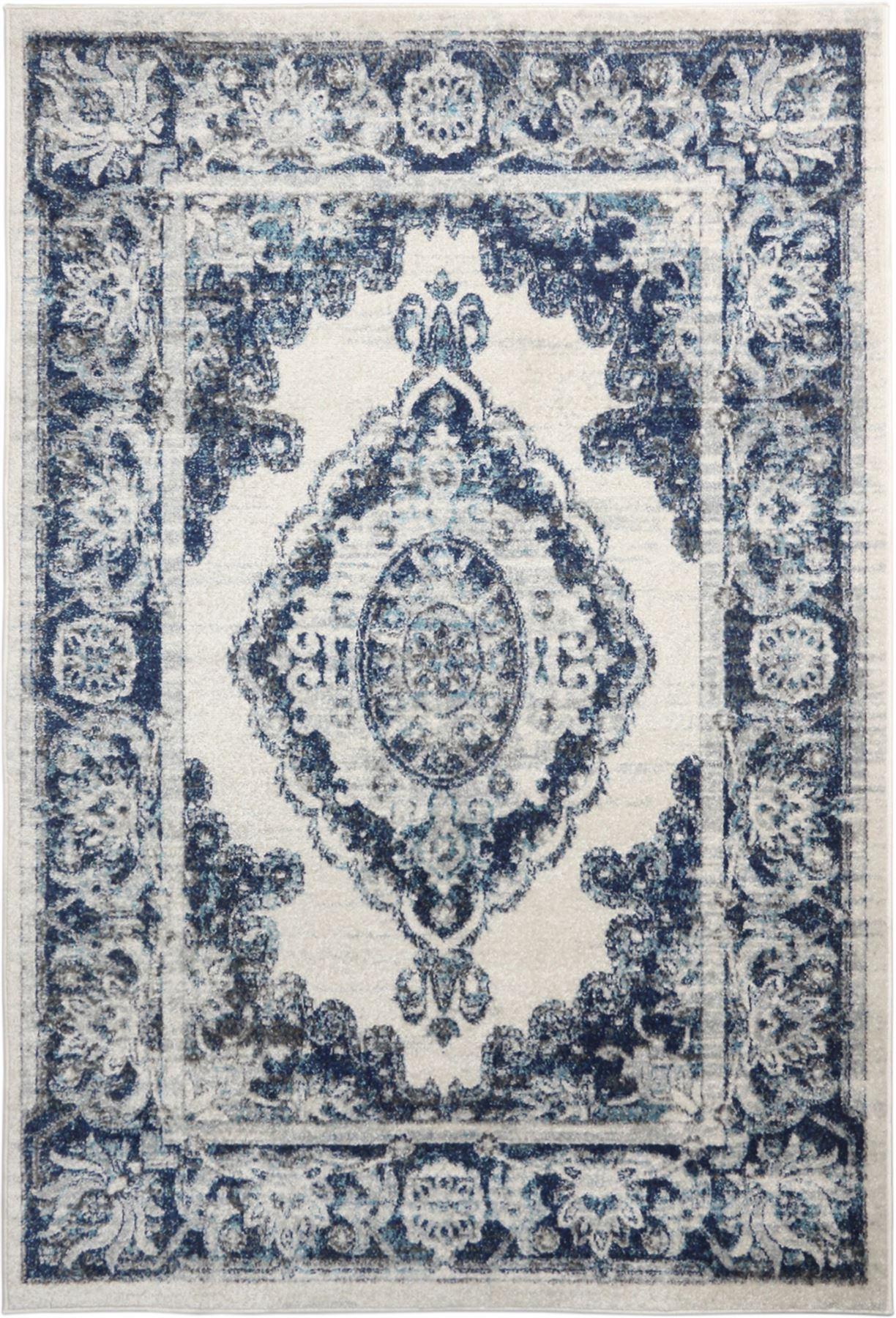 Crema-Tappeto-Oriental-Design-Tappeti-Persiani-salotto-TAPPETINI-tappeti-orientali miniatura 4