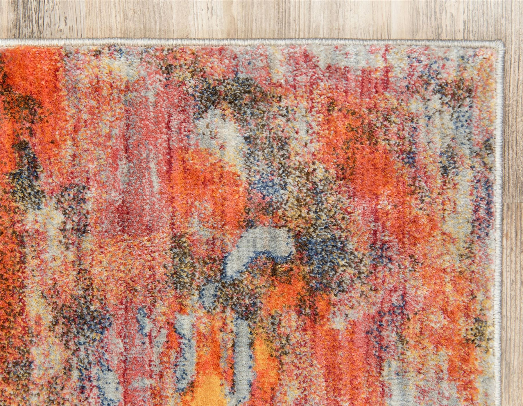 Vintage Style Washed Out Abstract Watercolor Soft Area Rug