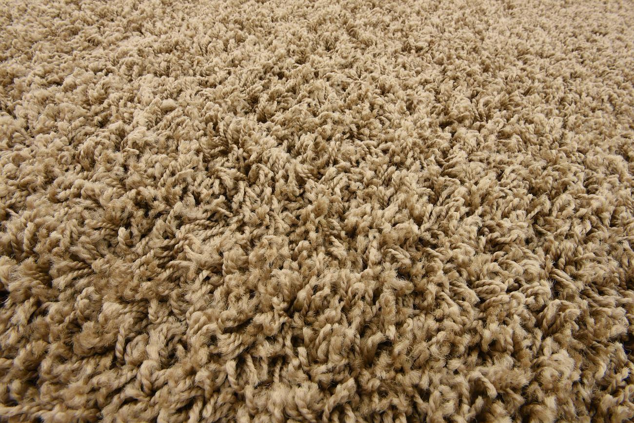 Dark beige shaggy rug warm soft fluffy carpet modern area for Modern beige carpet texture