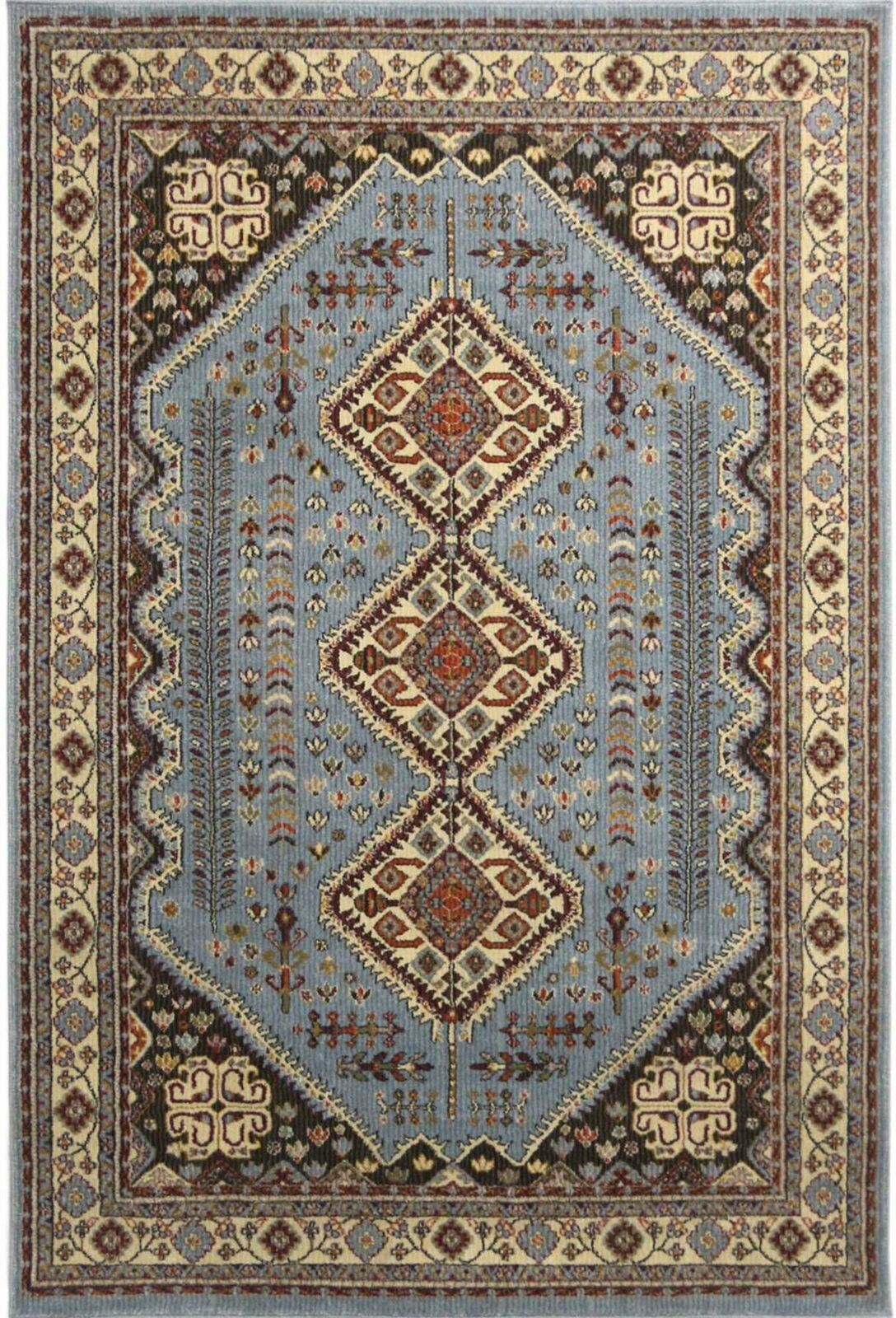 A2z Large Blue Rugs Terracotta Rug Traditional Persian