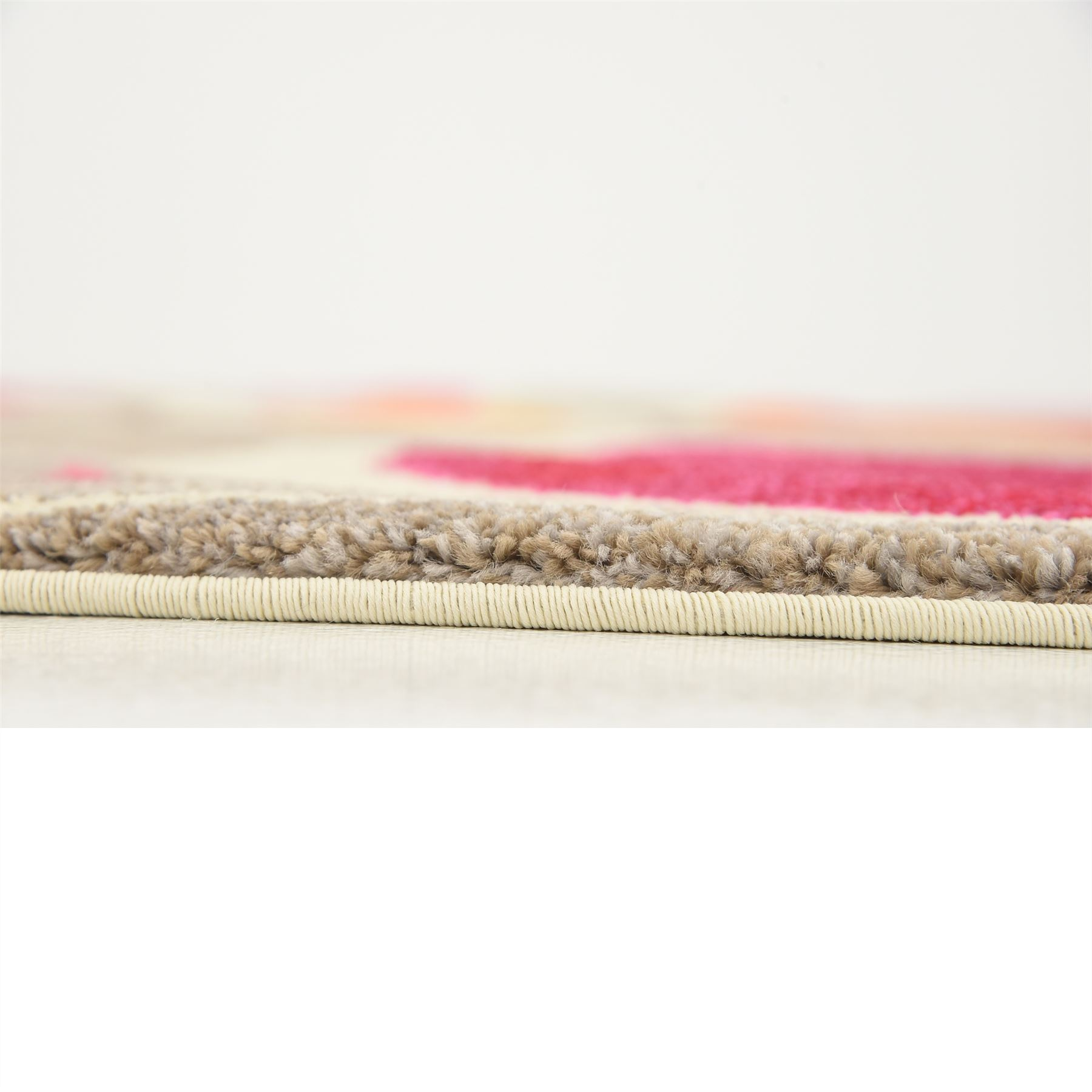 Modern Rug Orange: Modern Pink Area Rug Contemporary Orange Carpet Soft Large