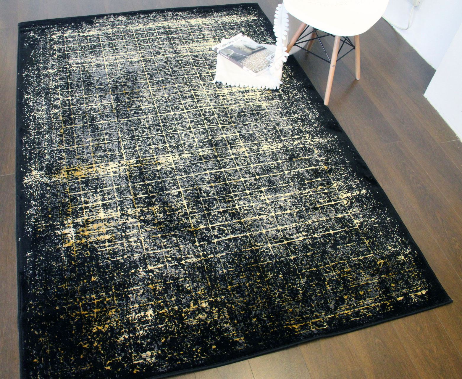 Shadow Large Area Rug Small Faded Modern Carpet Soft