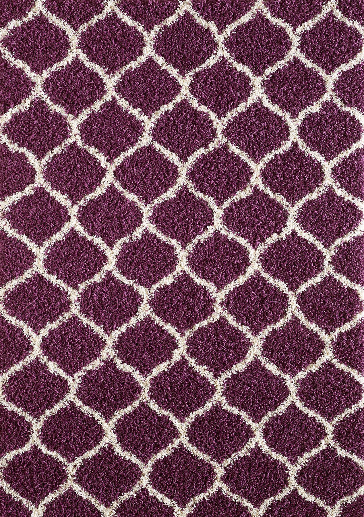 modern purple trellis shaggy moroccan carpet contemporary soft