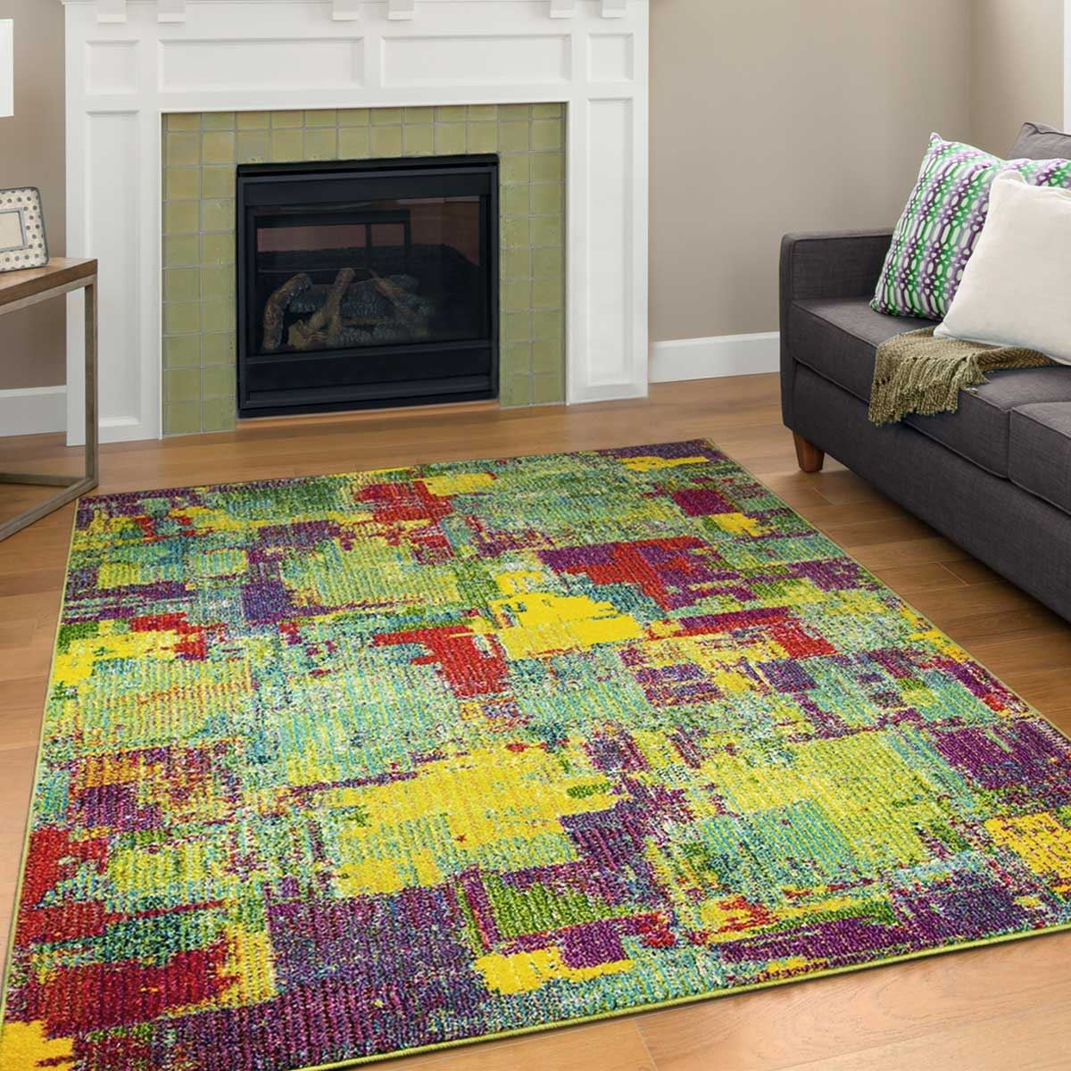 Details About Colourful Rug Large Sizes Runner Area Rugs Rio Design Multi Colours Carpet
