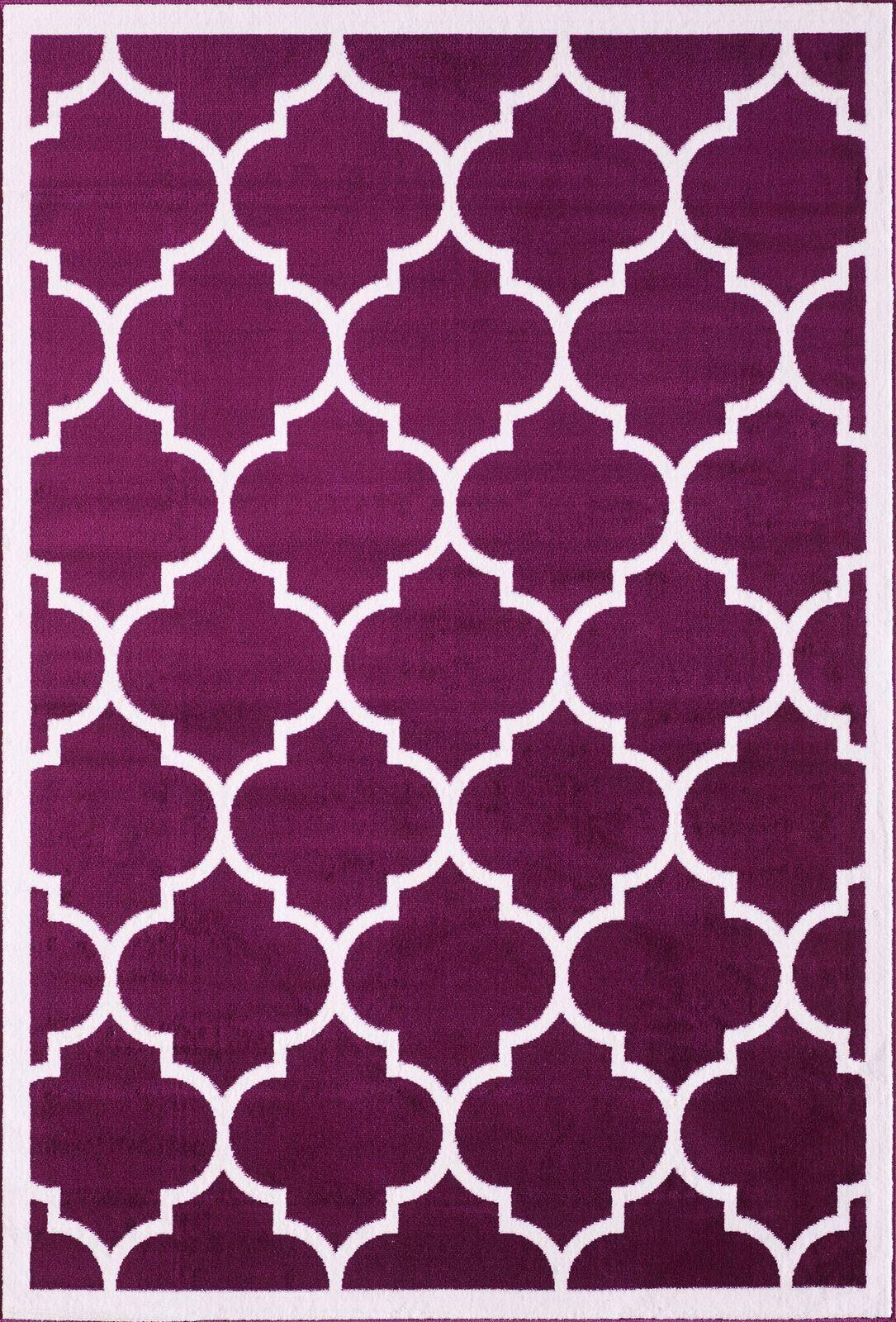 Large-Modern-Classic-Trellis-INDOOR-RUGS-Coloured-Floor-Carpet-Outdoor-Rug-Mats thumbnail 27