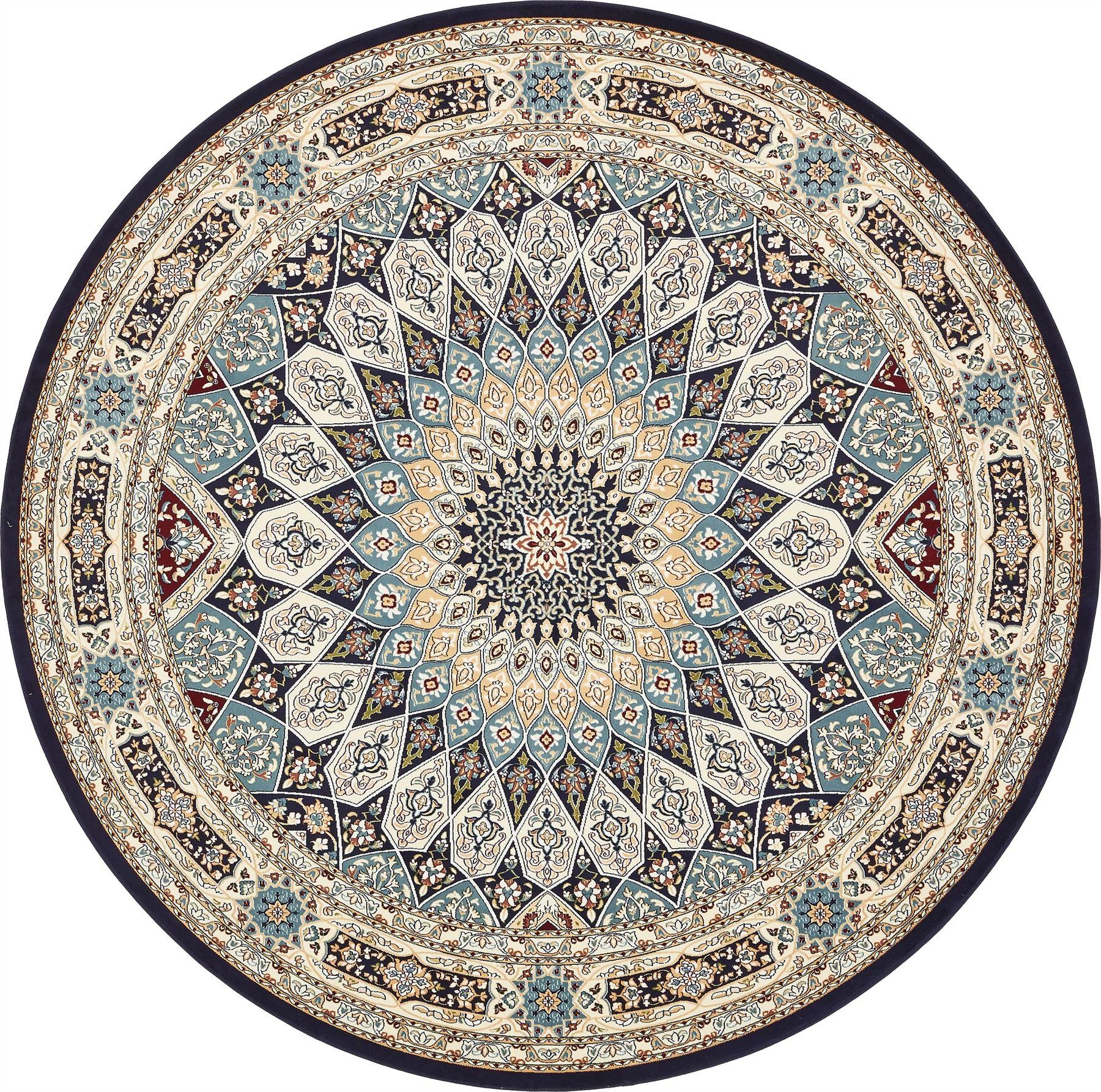 Persian Design Nain Area Rug Traditional Oriental Soft