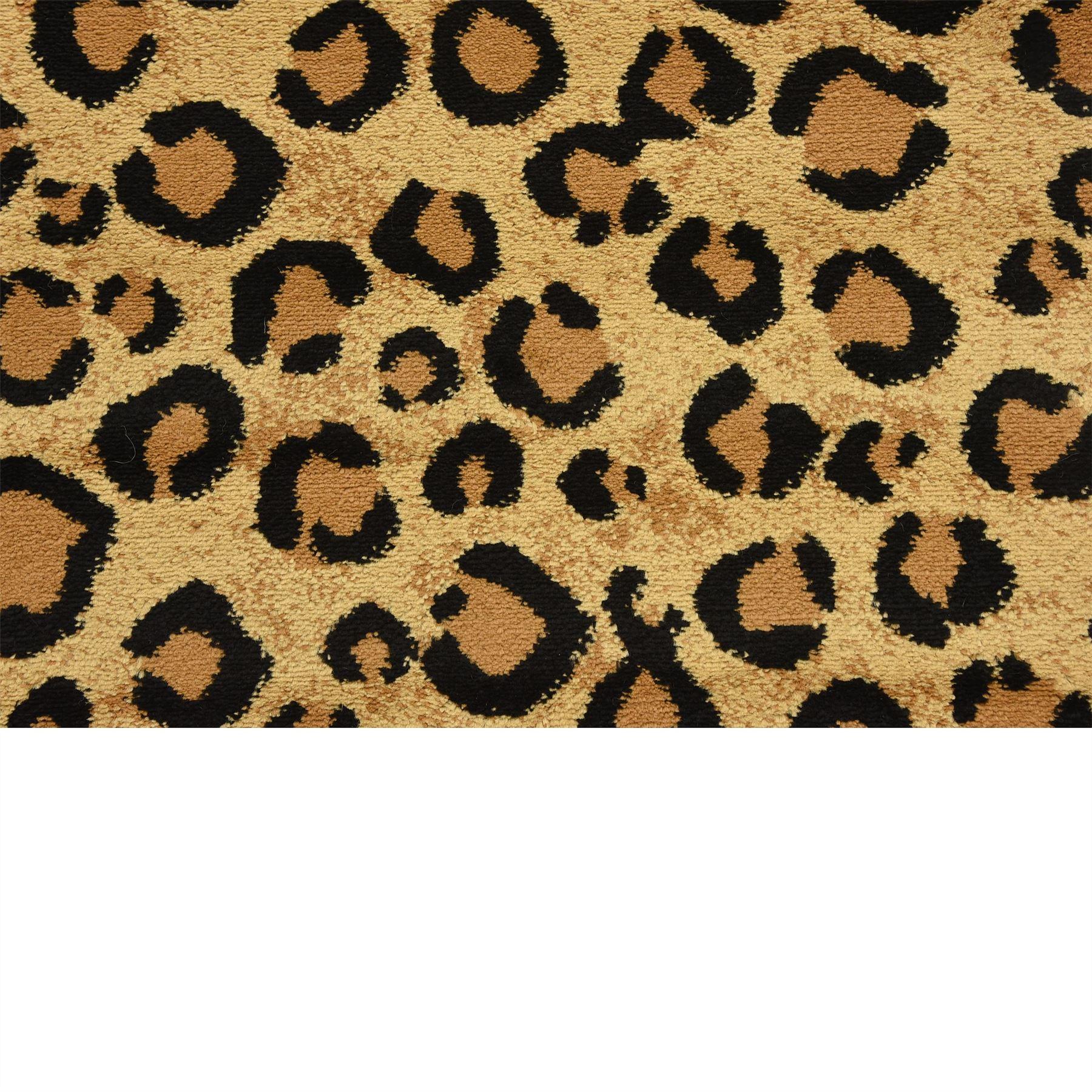 Modern Leopard Skin Style Area Rug Contemporary Animal