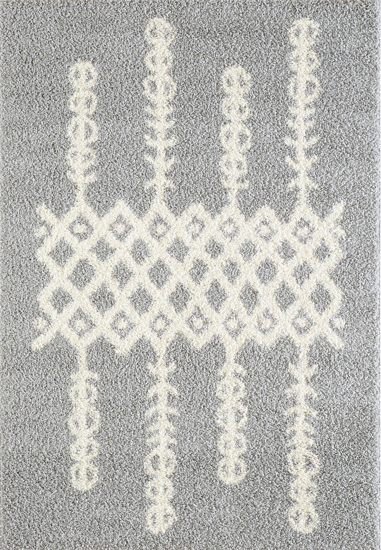 Tappeto-A2Z-Nero-Grigio-Avorio-tradizionale-marocchina-Shaggy-Berber-Boho-Tribal-3cm-Pile miniatura 13