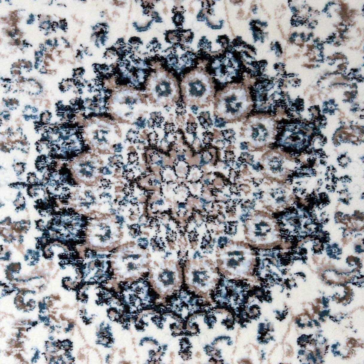 Area-di-Pavimento-Soggiorno-Tappeti-Navy-Avorio-Vintage-Oriental-Floral-Medallion-Rugs miniatura 12