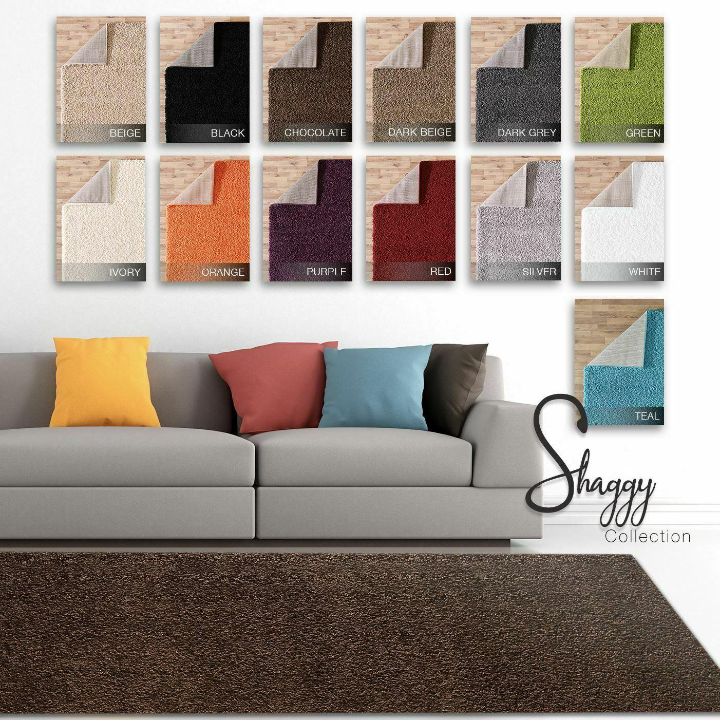 Multi Colour Thick Modern Rugs Large Rugs Shaggy Rugs Luxury Area Carpet Runners Ebay