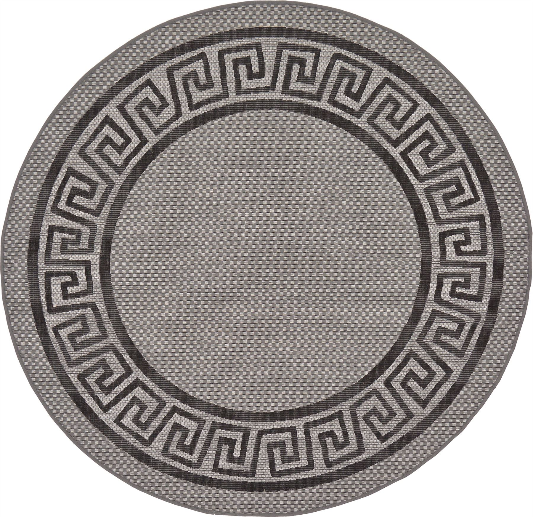 Modern-Outdoor-Thin-Area-Rug-Contemporary-Plain-Large-Small-Carpet-Gray-Brown thumbnail 13