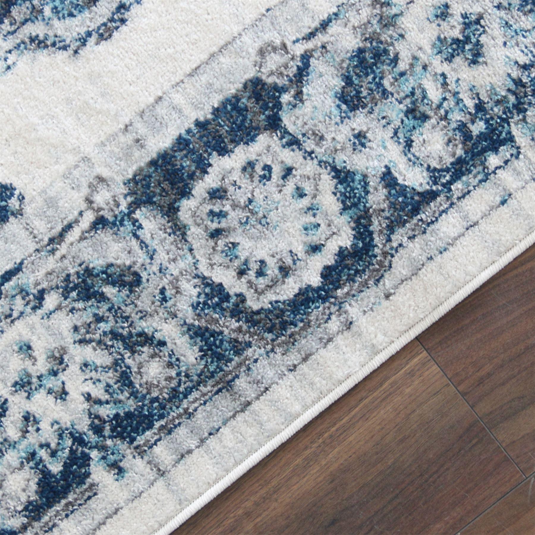 Crema-Tappeto-Oriental-Design-Tappeti-Persiani-salotto-TAPPETINI-tappeti-orientali miniatura 6