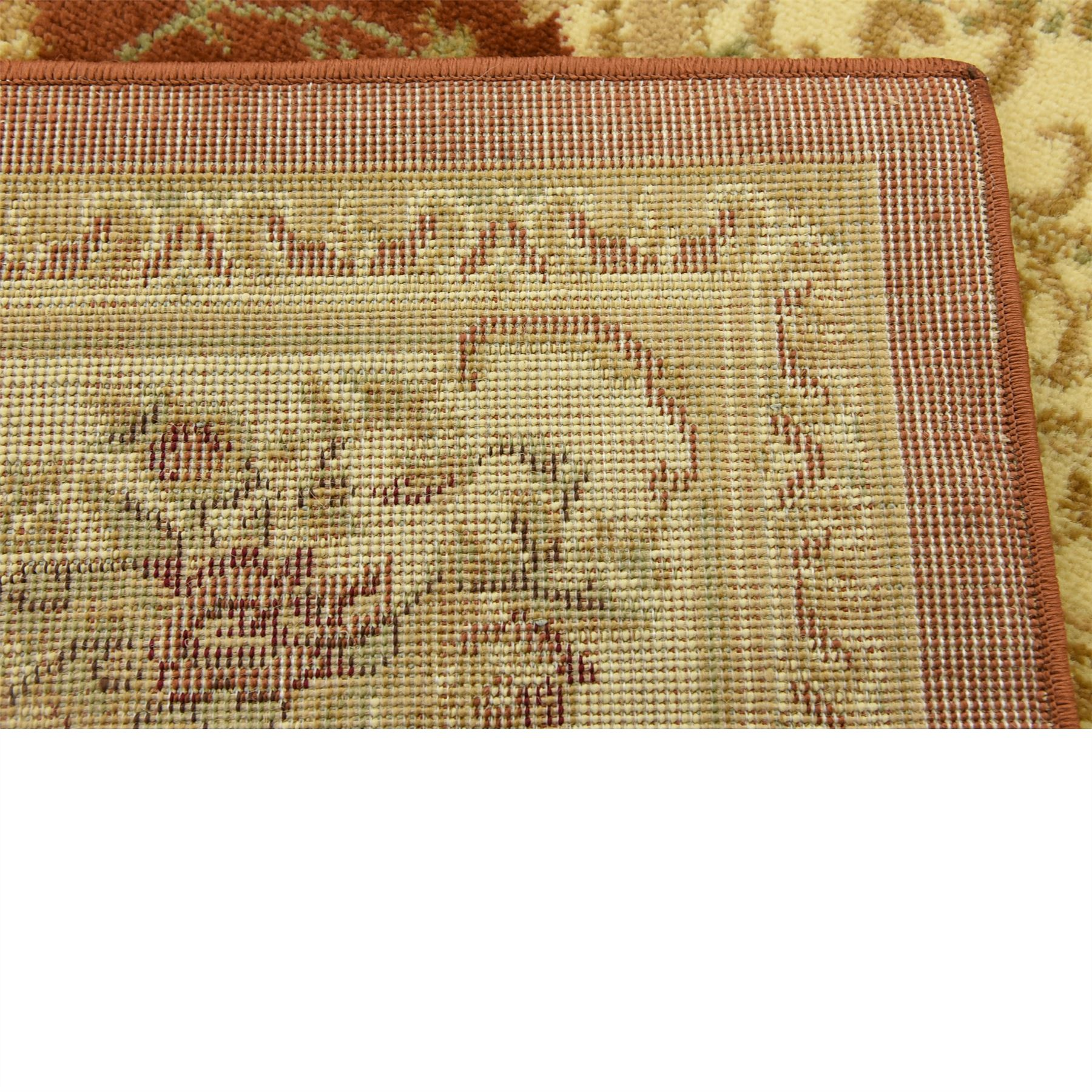 Oriental-Large-Area-Rug-Square-Traditional-Country-Round-Carpet-Medallion-Small thumbnail 6