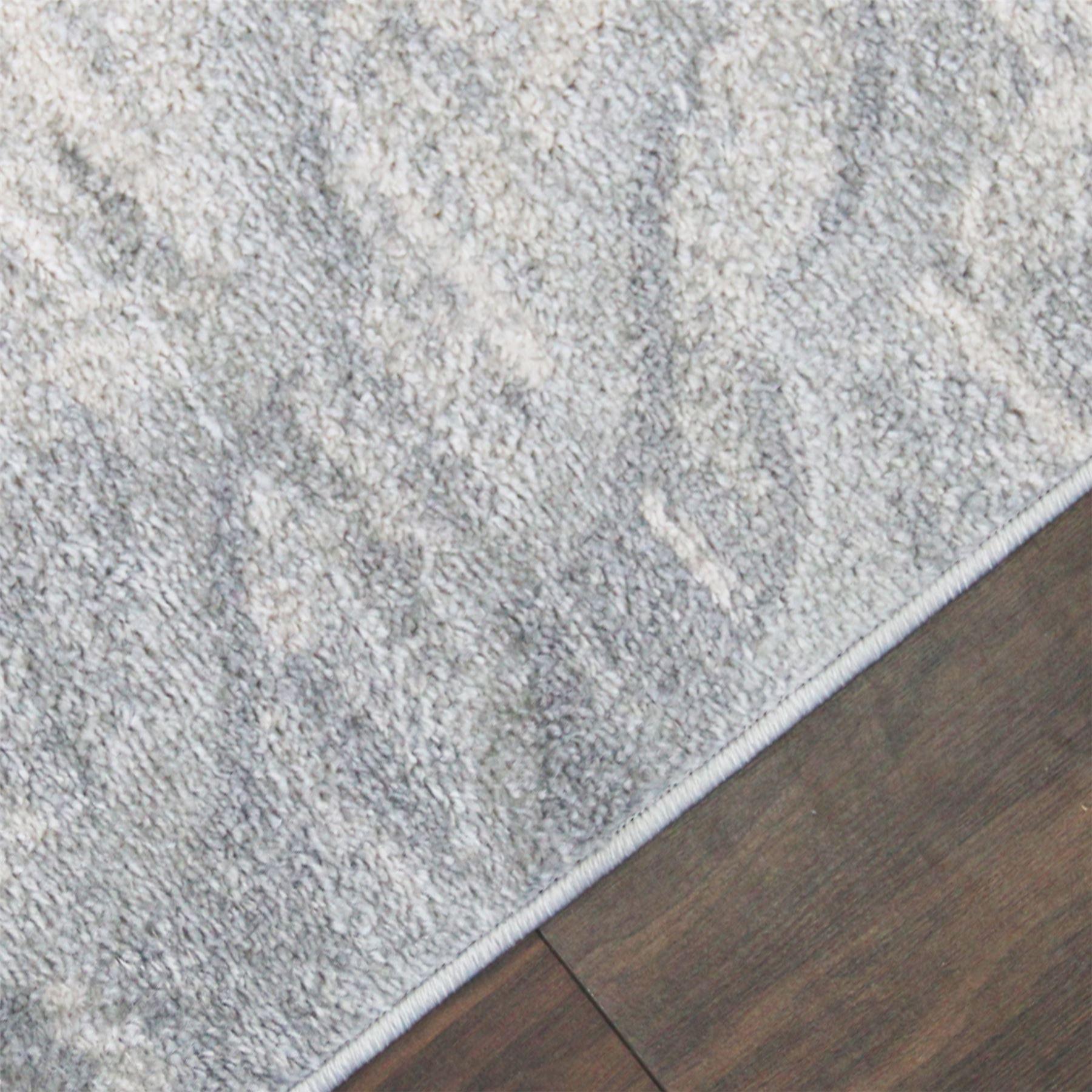 A2Z-grigio-grande-mix-di-moderni-tappeti-VINTAGE-dissolvenza-modelli-Design-Arredamento-Corridori miniatura 4