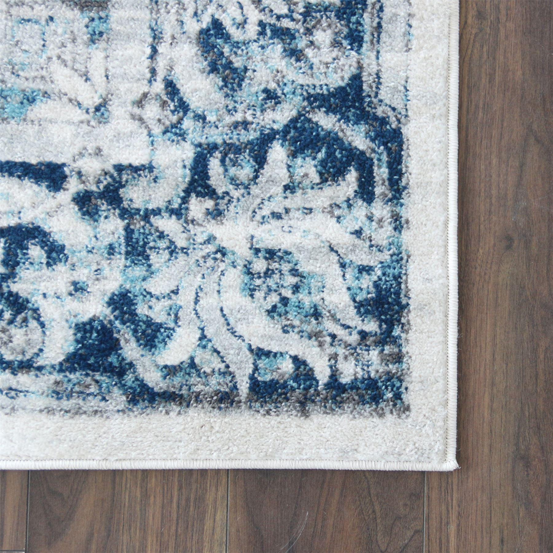 Crema-Tappeto-Oriental-Design-Tappeti-Persiani-salotto-TAPPETINI-tappeti-orientali miniatura 5