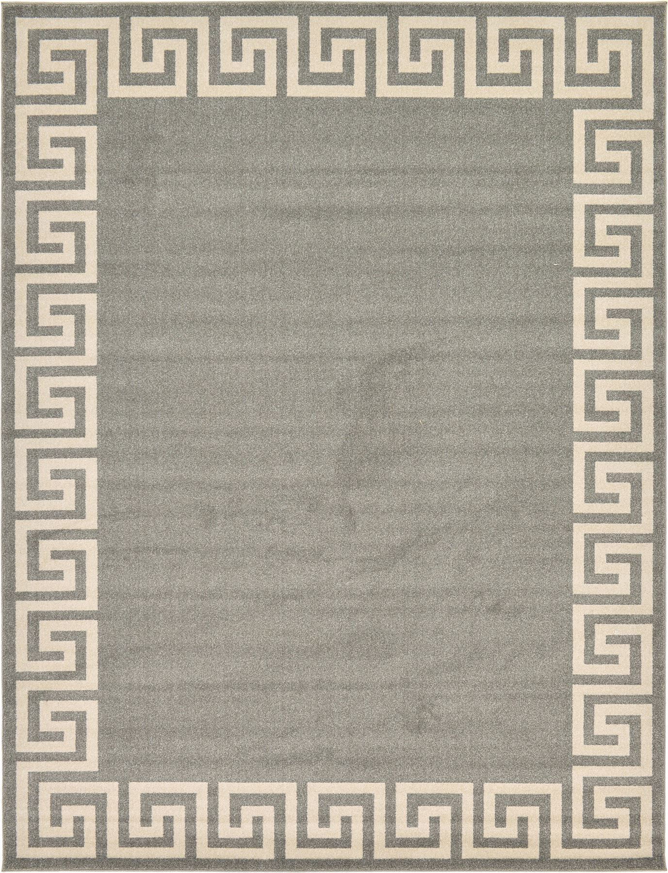 Modern Greek Design Border Area Rug Contemporary Large Soft Carpet