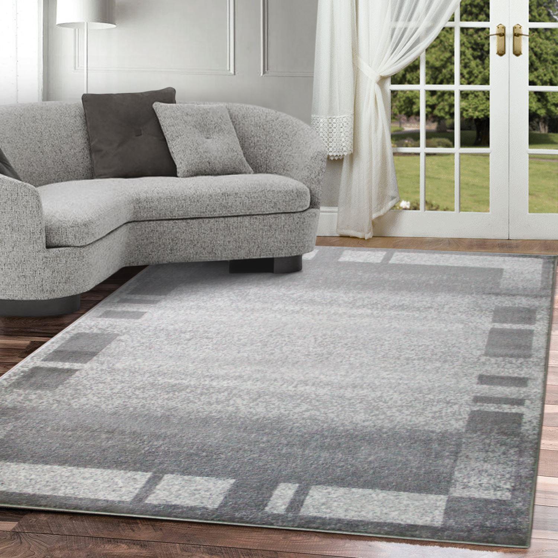 Tappeto-moderno-contemporaneo-area-a-contrasto-Marrone-Grigio-Bianco-quadrati-a-strisce-Tappeto miniatura 3