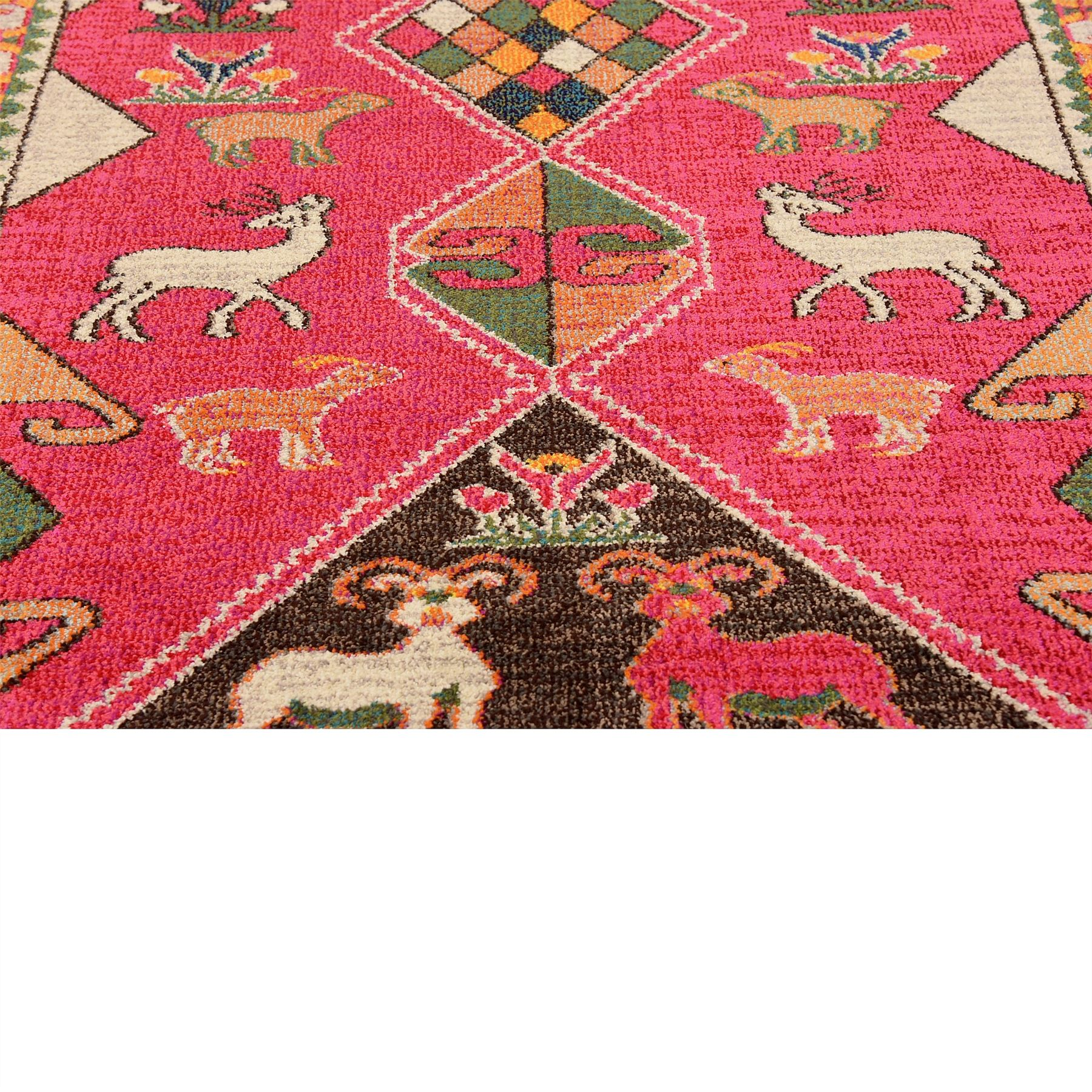 Traditional Pink Persian Design Area Rug Tribal Oriental