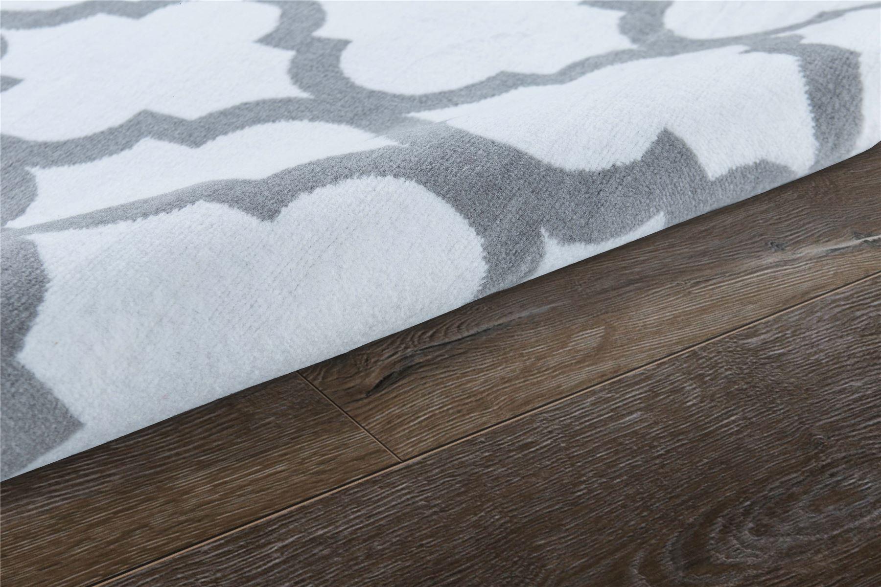 Nero-Rosso-Argento-Bianco-Viola-Moderno-Area-Tappeto-Traliccio-DESIGN-CUCINA-outdoorrug miniatura 32