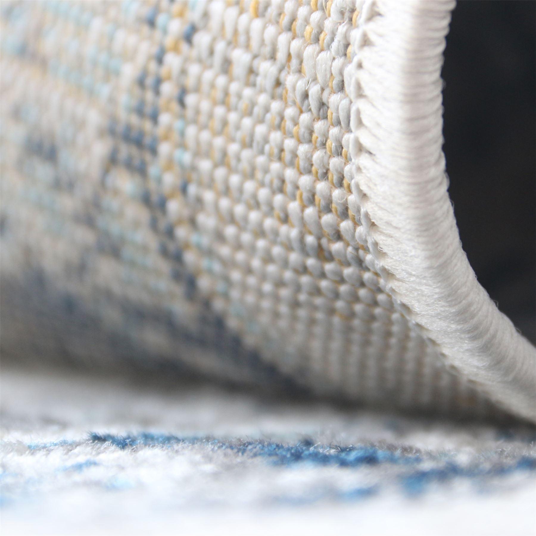 A2Z-Grande-Crema-Avorio-Blu-TRADIZIONALE-DESIGN-VINTAGE-tappeti-persiani-TAPPETI-CAMERA miniatura 7