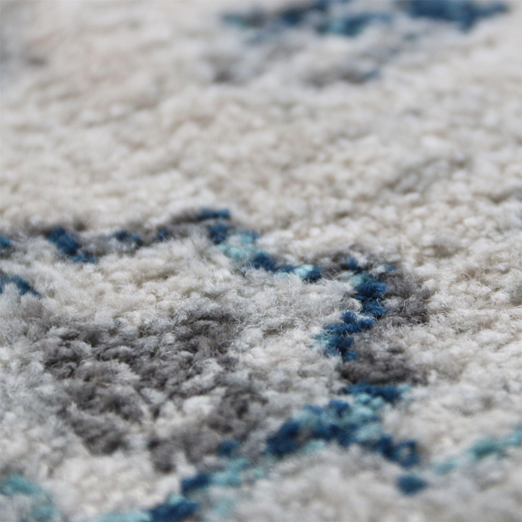 A2Z-Grande-Crema-Avorio-Blu-TRADIZIONALE-DESIGN-VINTAGE-tappeti-persiani-TAPPETI-CAMERA miniatura 6