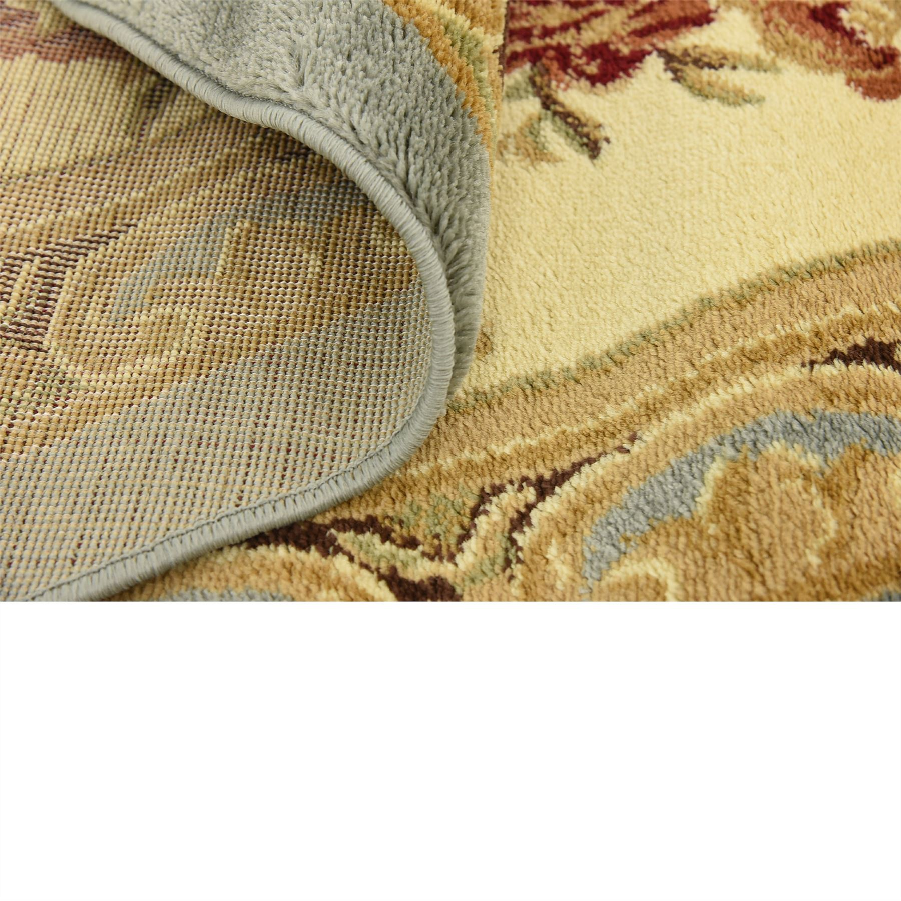 Oriental-Large-Area-Rug-Square-Traditional-Country-Round-Carpet-Medallion-Small thumbnail 36