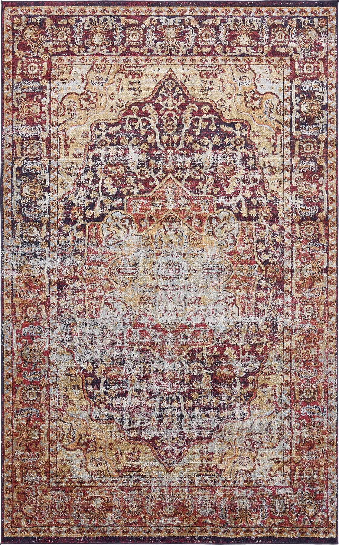 Medallion style rugs traditional carpets over dyed vintage for Vintage style area rugs