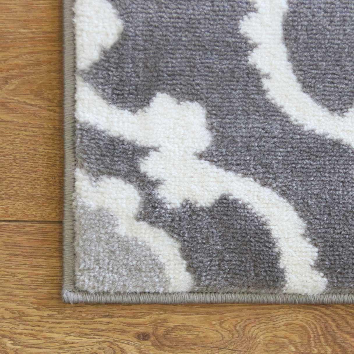 A2Z-grigio-grande-mix-di-moderni-tappeti-corridori-bianchi-a-contrasto-Traliccio-Design-Tappeti miniatura 6