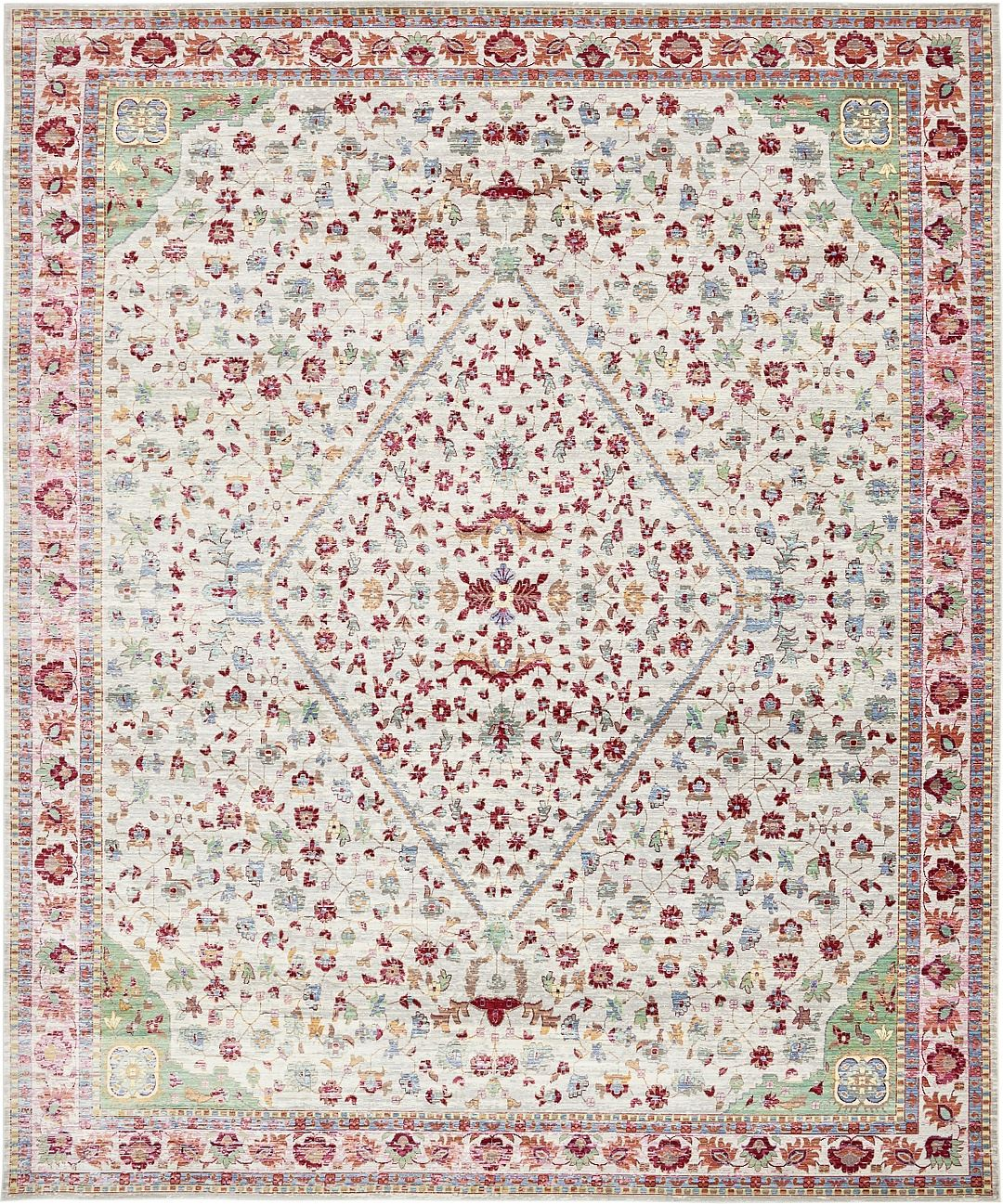 Medallion Area Rug Over-dyed Floor Rugs Traditional