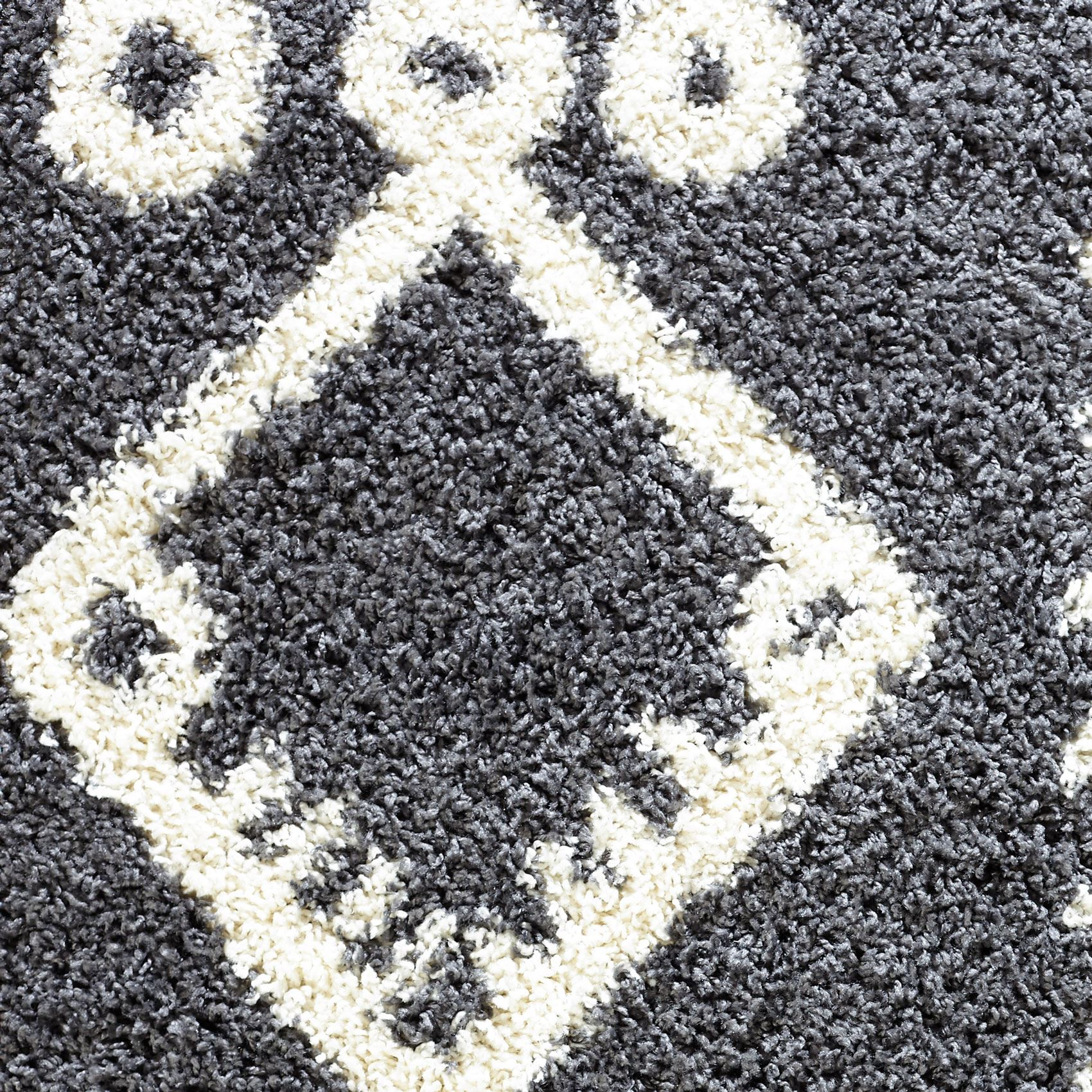 Moroccan-Shaggy-Area-Rug-Grey-White-Black-Soft-Carpet-Traditional-Berber-Designs thumbnail 15