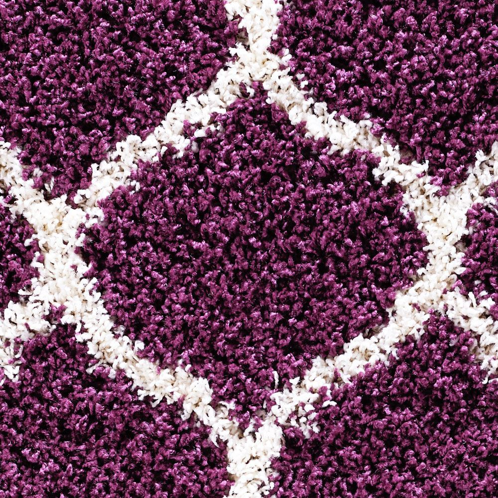 Dense-Pile-Trellis-Bedroom-Carpets-Thick-Shaggy-Rugs-Modern-Coloured-Pattern-Mat thumbnail 19