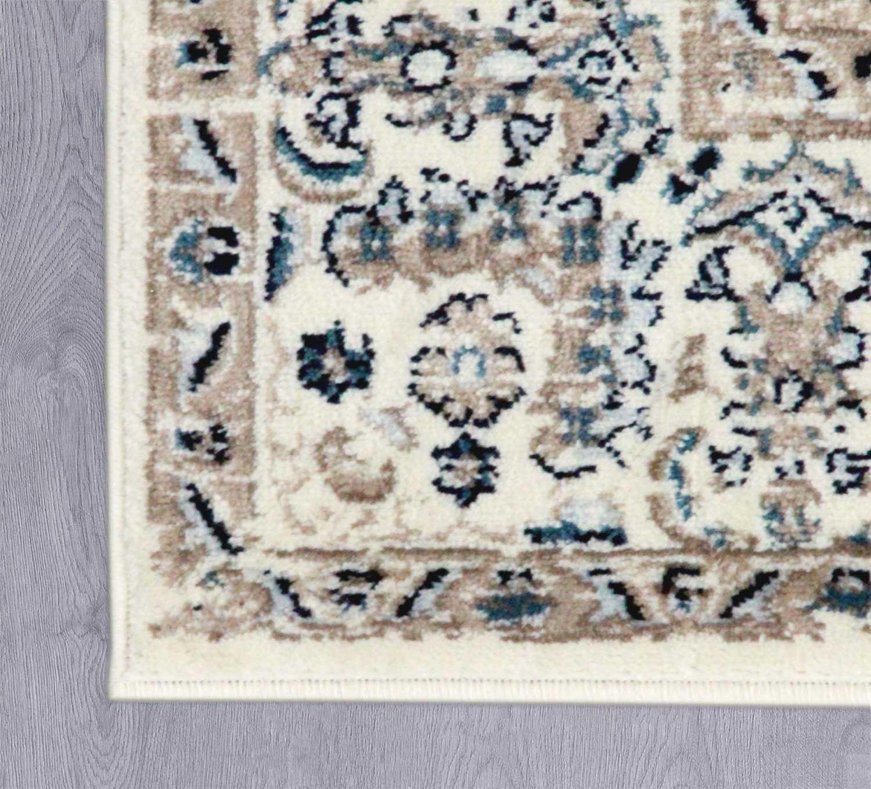 Area-di-Pavimento-Soggiorno-Tappeti-Navy-Avorio-Vintage-Oriental-Floral-Medallion-Rugs miniatura 7